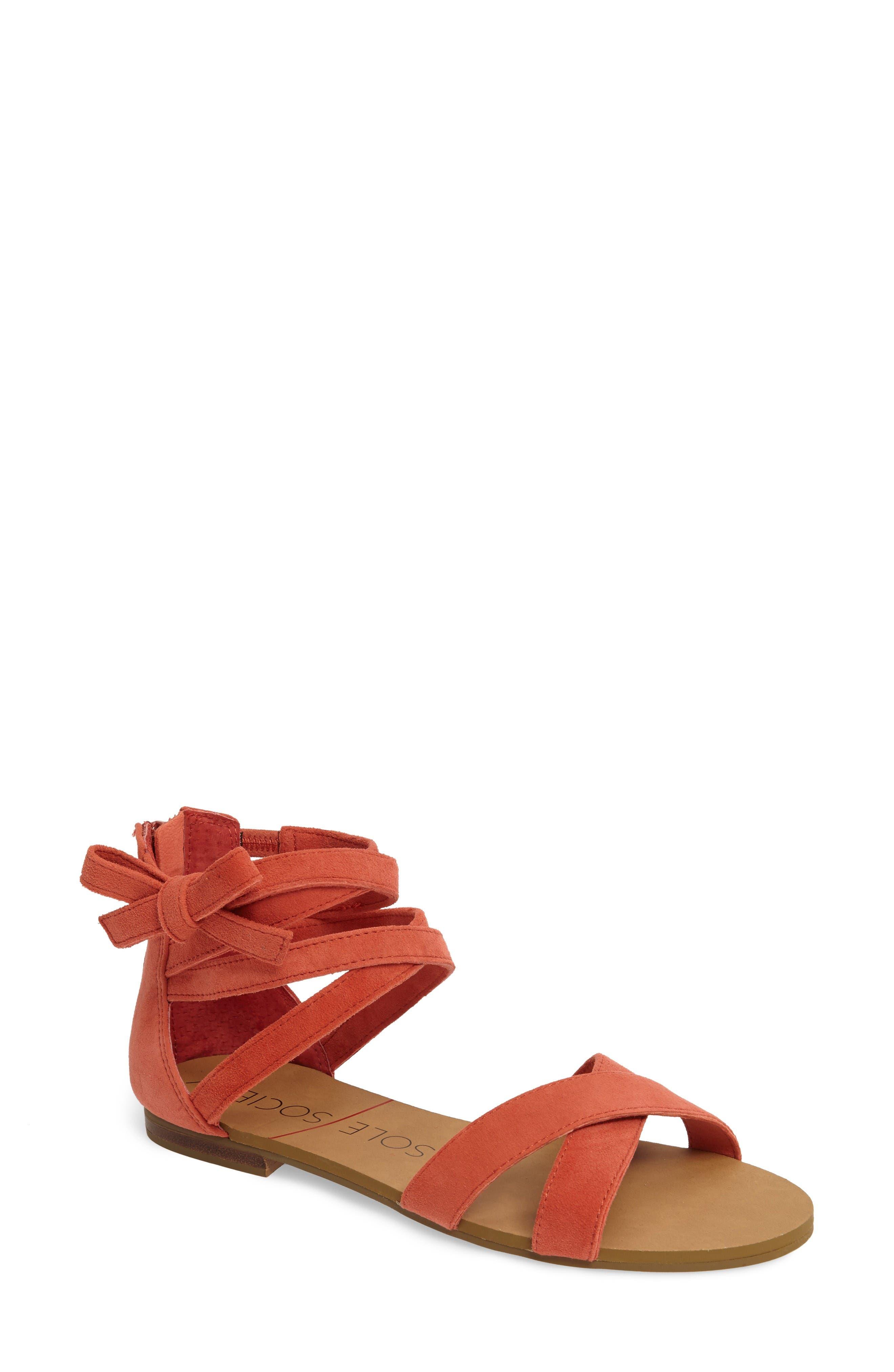 Sole Society Sana Wraparound Sandal (Women)