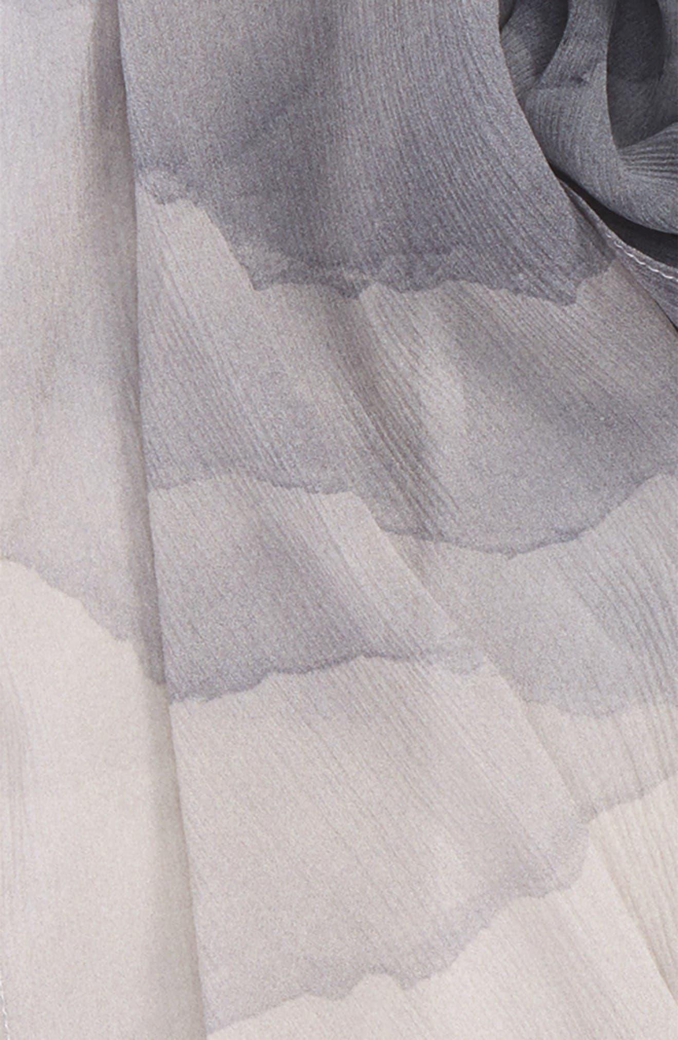 Alternate Image 3  - Nordstrom Prismatic Color Play Oblong Silk Scarf