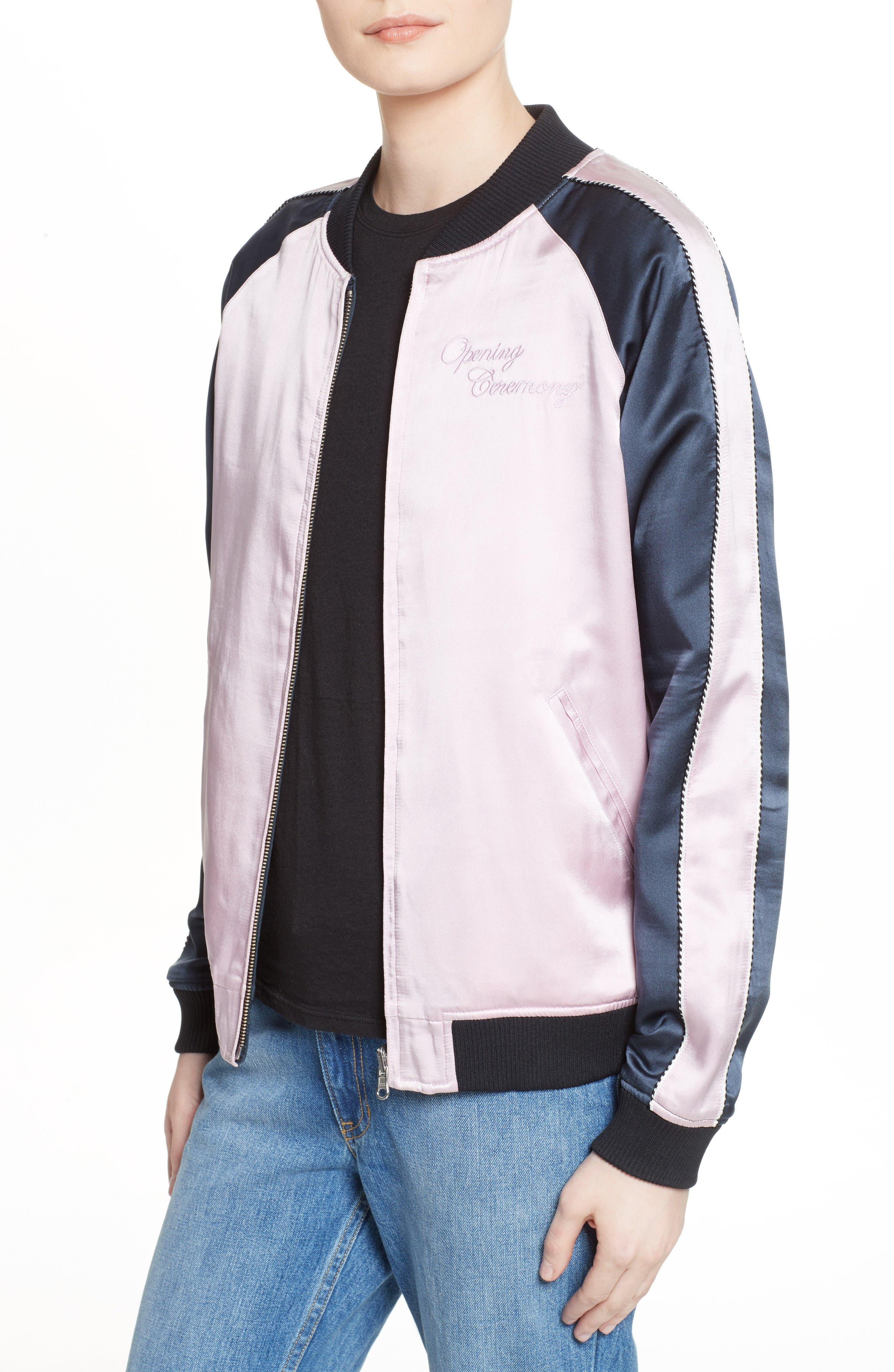 Alternate Image 6  - Opening Ceremony Night Sky Reversible Silk Bomber Jacket