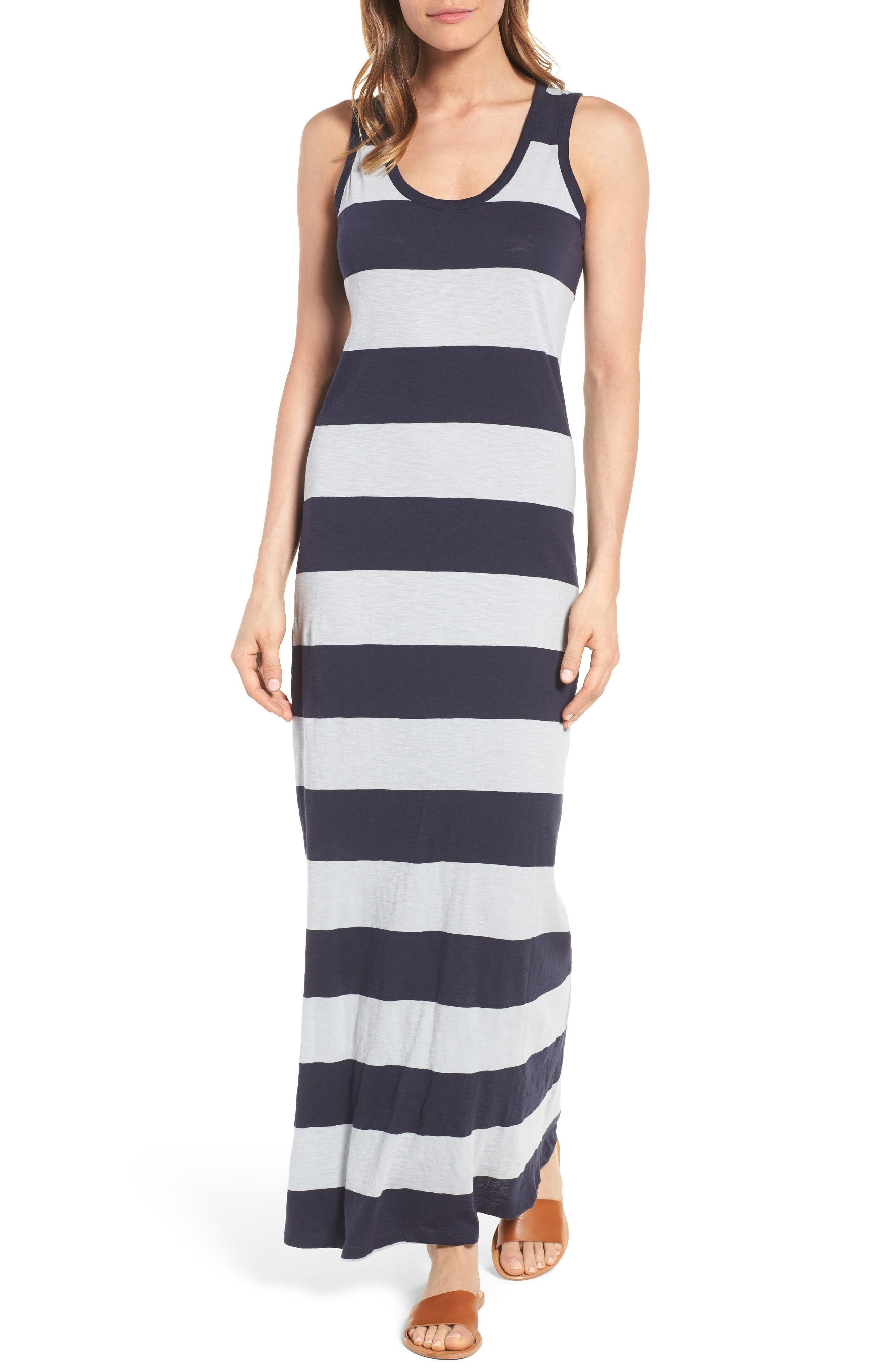 Main Image - Press Stripe Racerback Maxi Dress