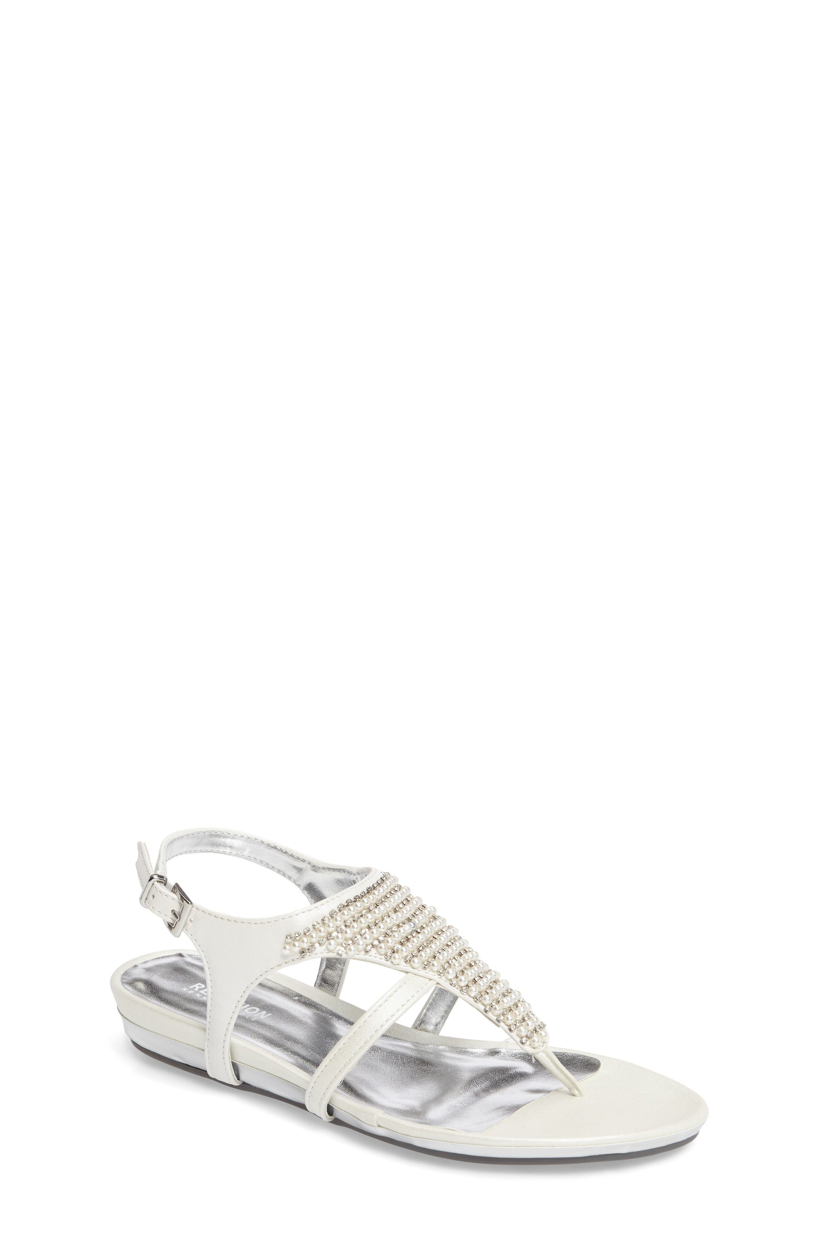 Kenneth Cole New York Lost Way Embellished Sandal (Toddler, Little Kid & Big Kid)