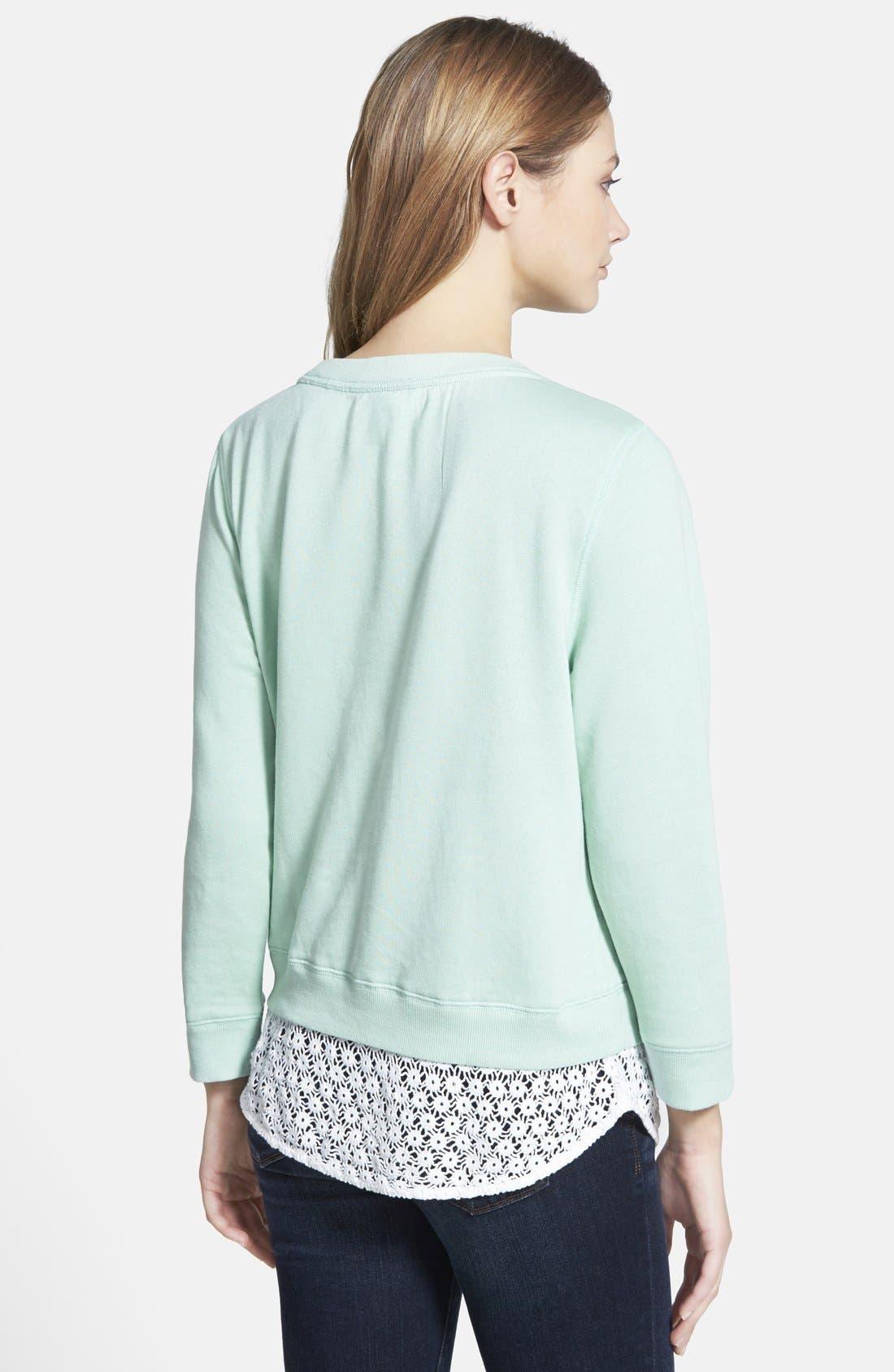 Alternate Image 2  - Hinge Lace Trim Sweatshirt