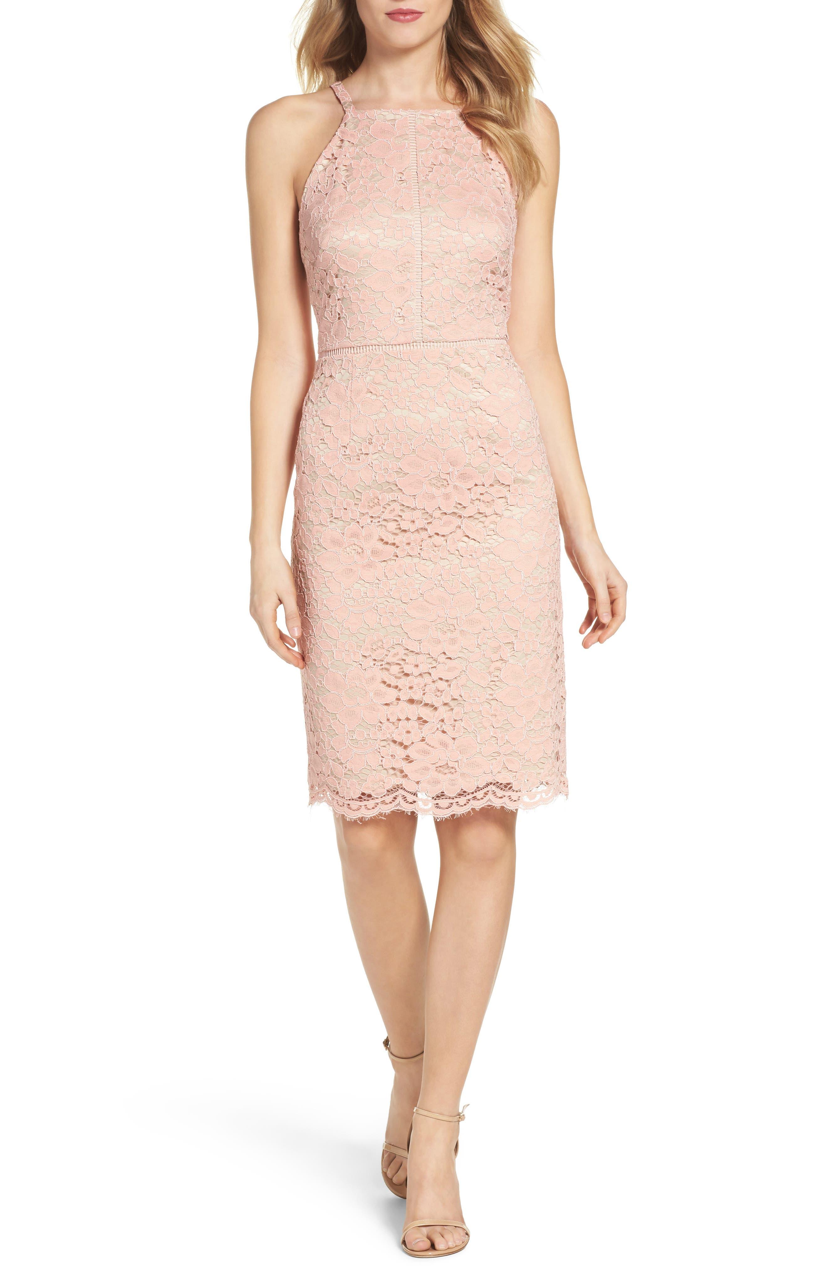 Alternate Image 4  - Vince Camuto Lace Sheath Dress