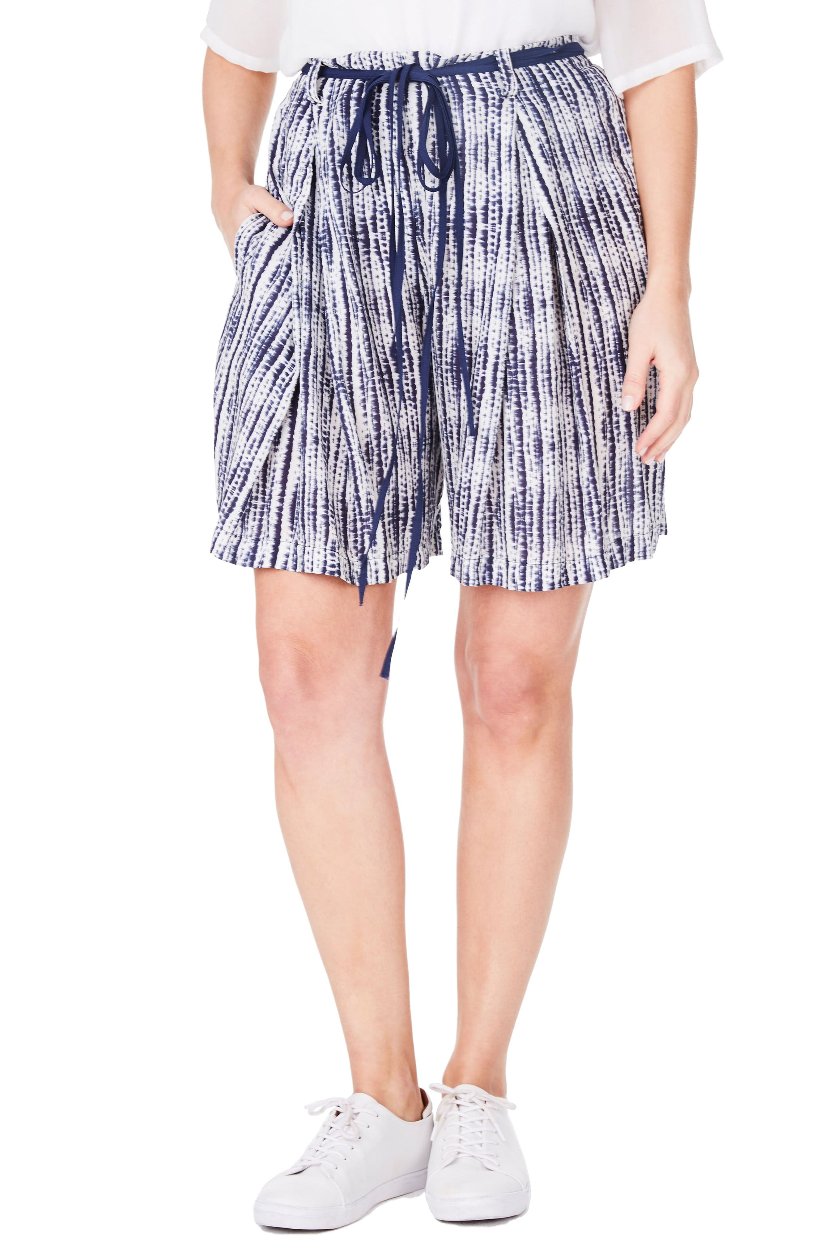 ELVI Tie Dye Shorts (Plus Size)