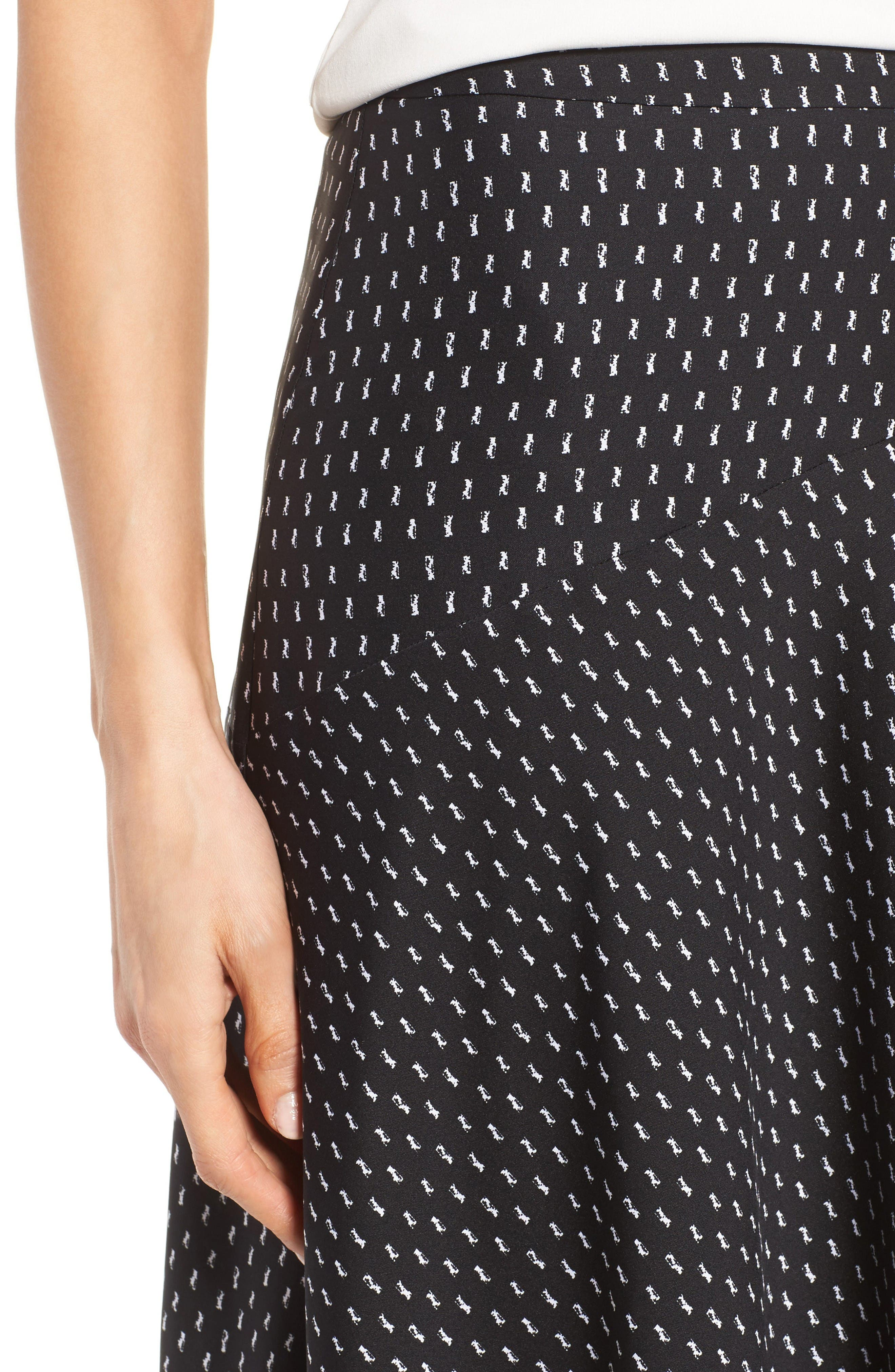 Alternate Image 5  - Classiques Entier® Stretch Silk Midi Skirt