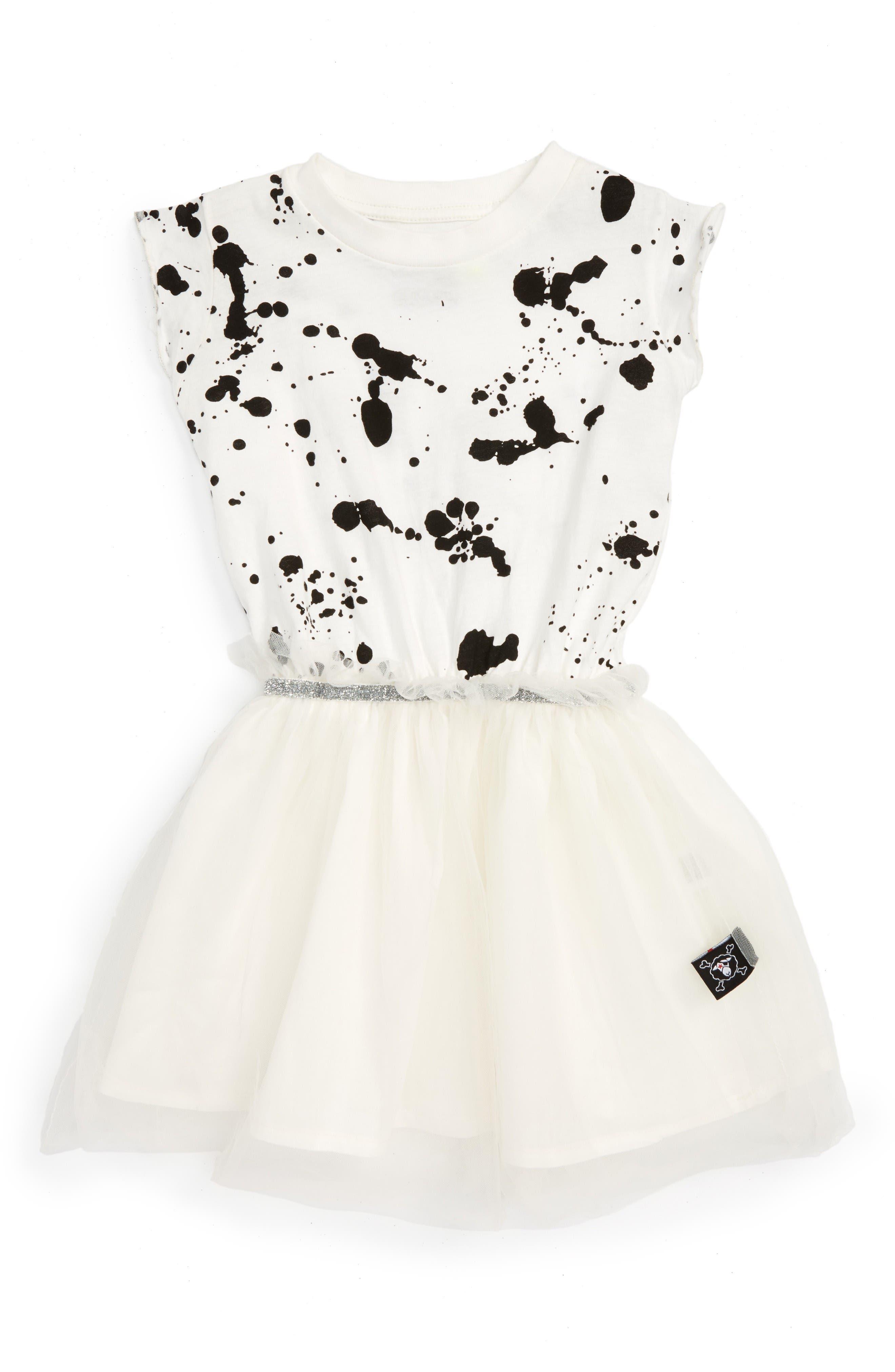 NUNUNU Splash Tulle Dress (Baby Girls)