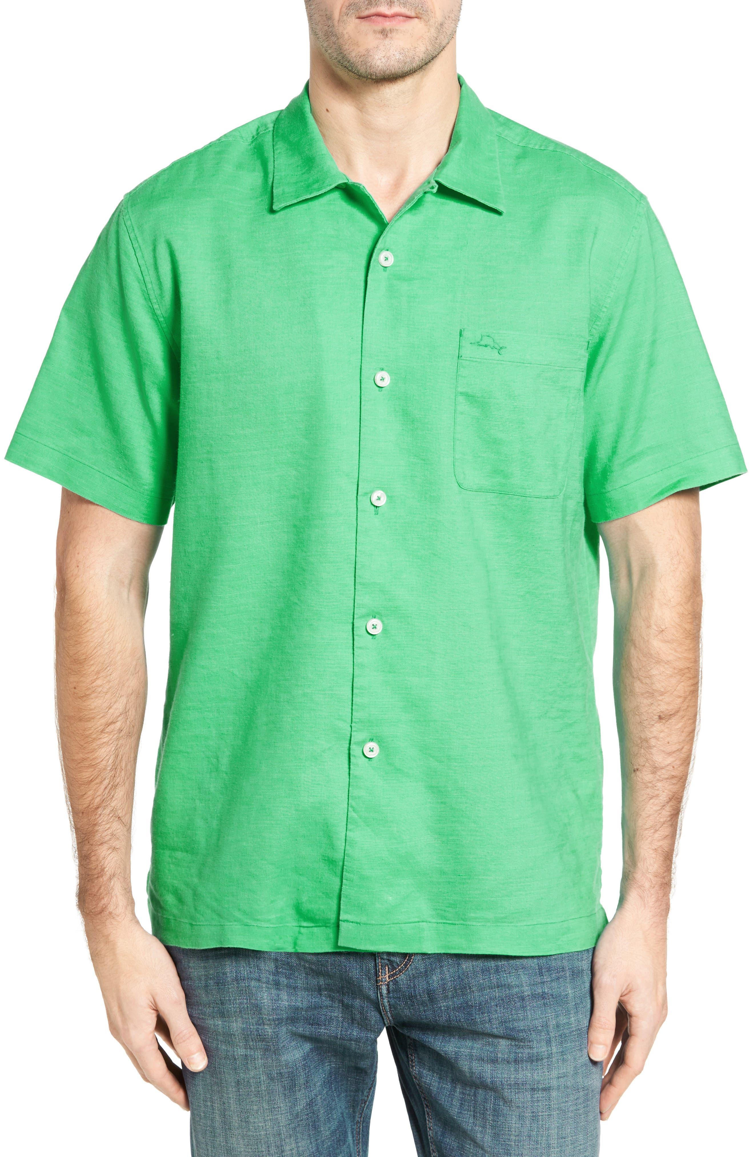 Tommy Bahama Monaco Tides Linen Blend Camp Shirt (Big & Tall)