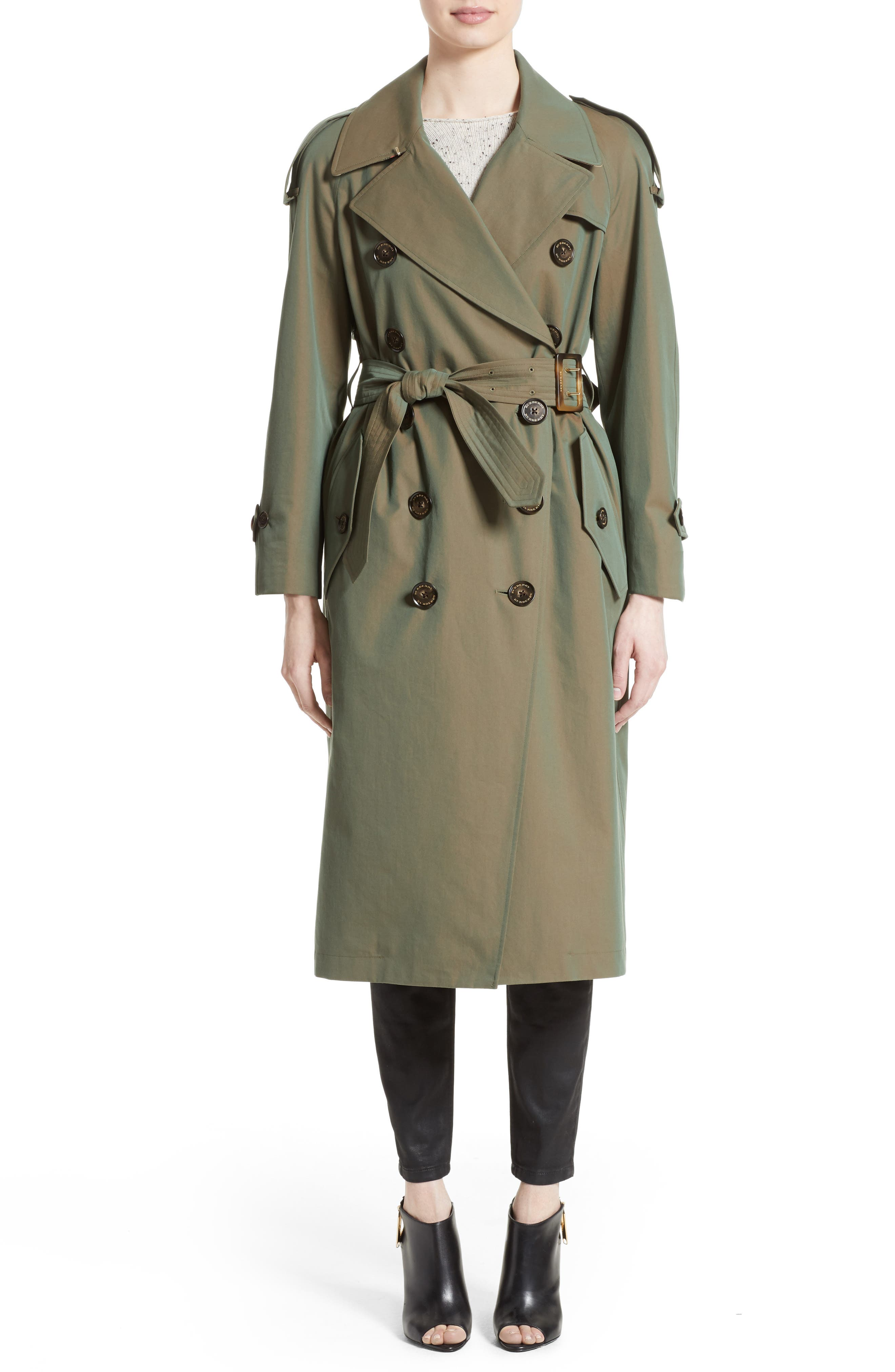 Burberry Tropical Gabardine Oversized Trench Coat
