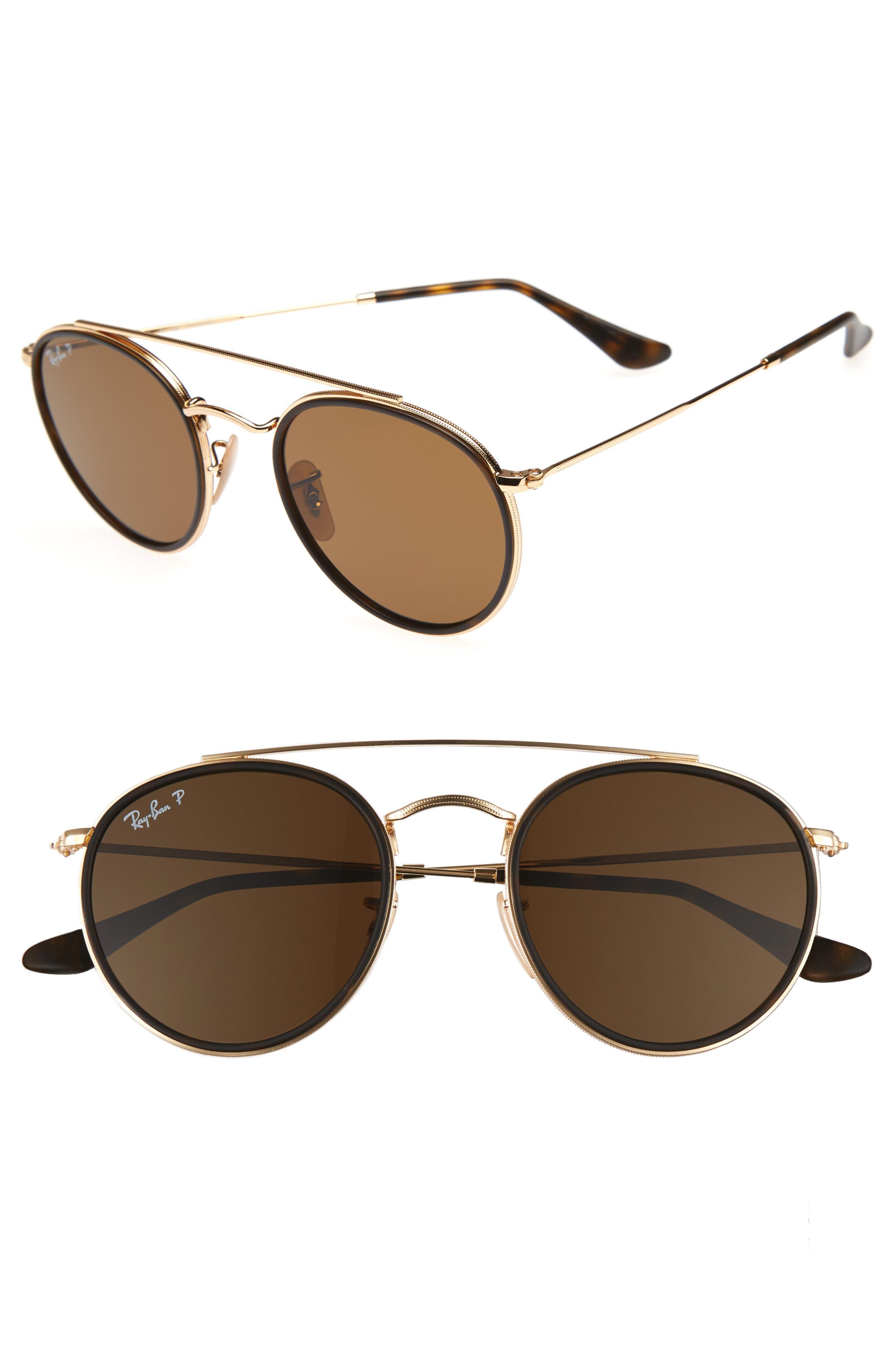 Main Image - Ray-Ban Icons 51mm Round Sunglasses