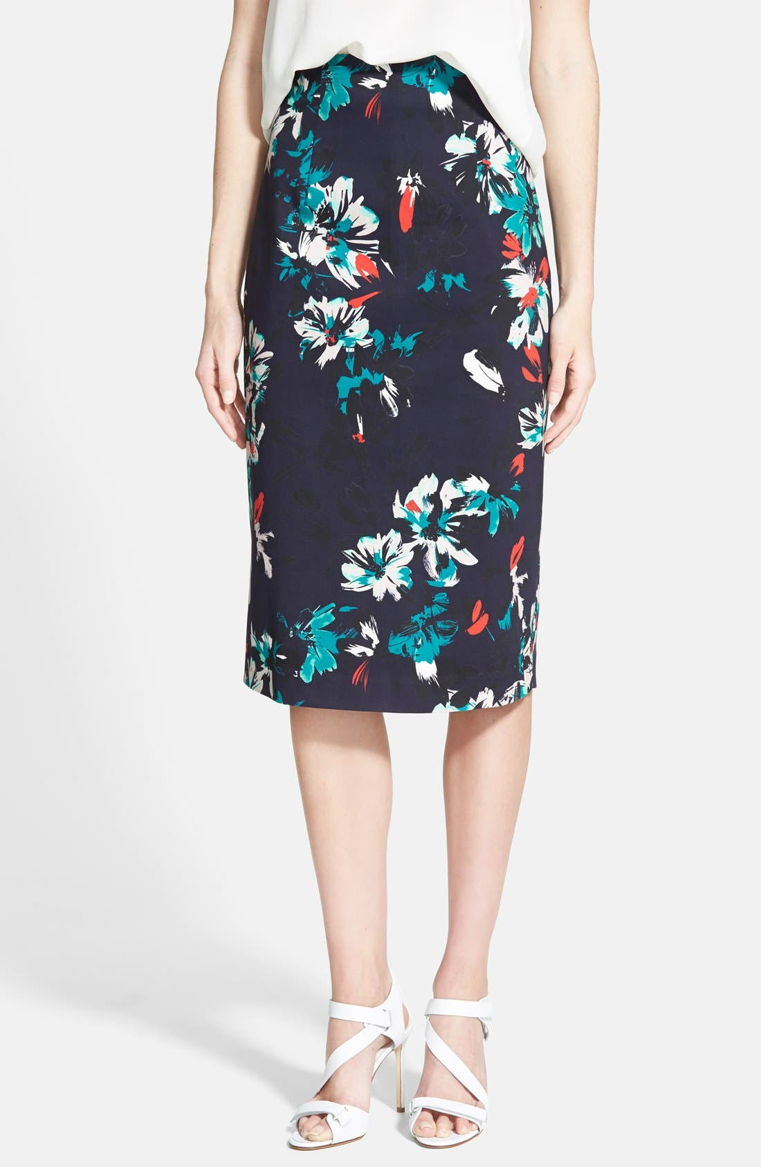 Alternate Image 1 Selected - Chelsea28 High Waist Floral Pencil Skirt