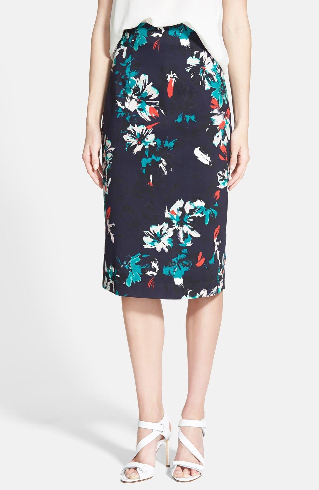 Main Image - Chelsea28 High Waist Floral Pencil Skirt