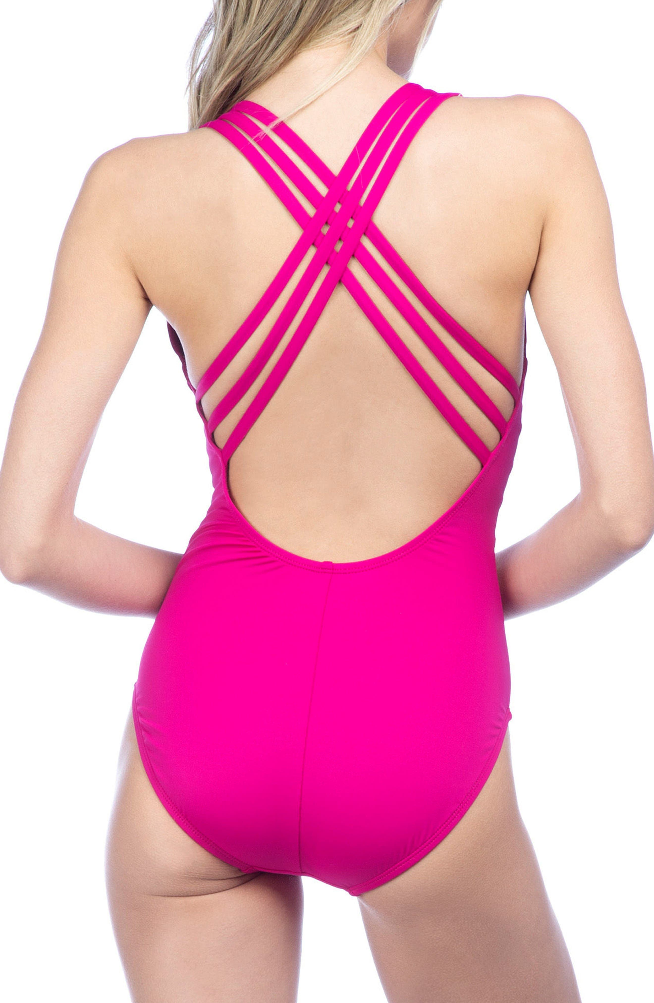 Alternate Image 2  - La Blanca Cross Back One-Piece Swimsuit