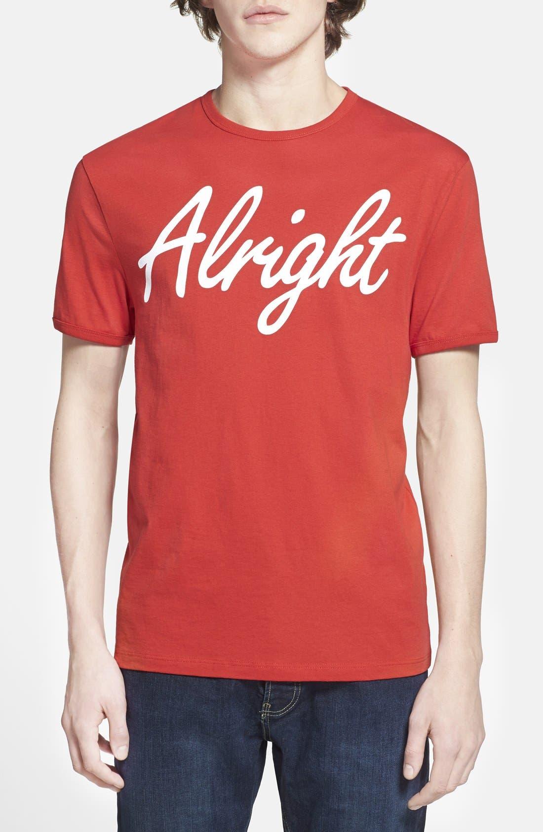 Alternate Image 1 Selected - Topman 'Alright' Jersey T-Shirt (Brit Pop-In) (Nordstrom Exclusive)