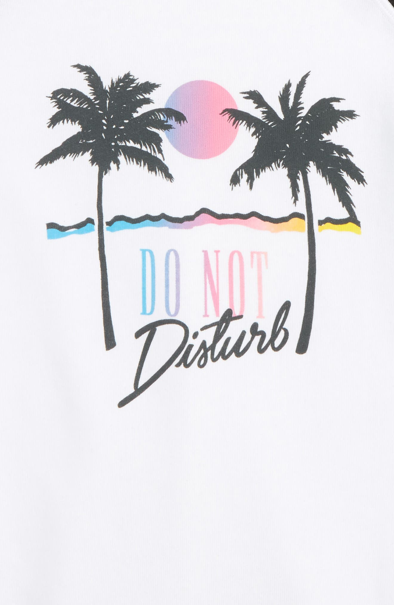 Alternate Image 2  - Wildfox Do Not Disturb Graphic Sweatshirt (Big Girls)