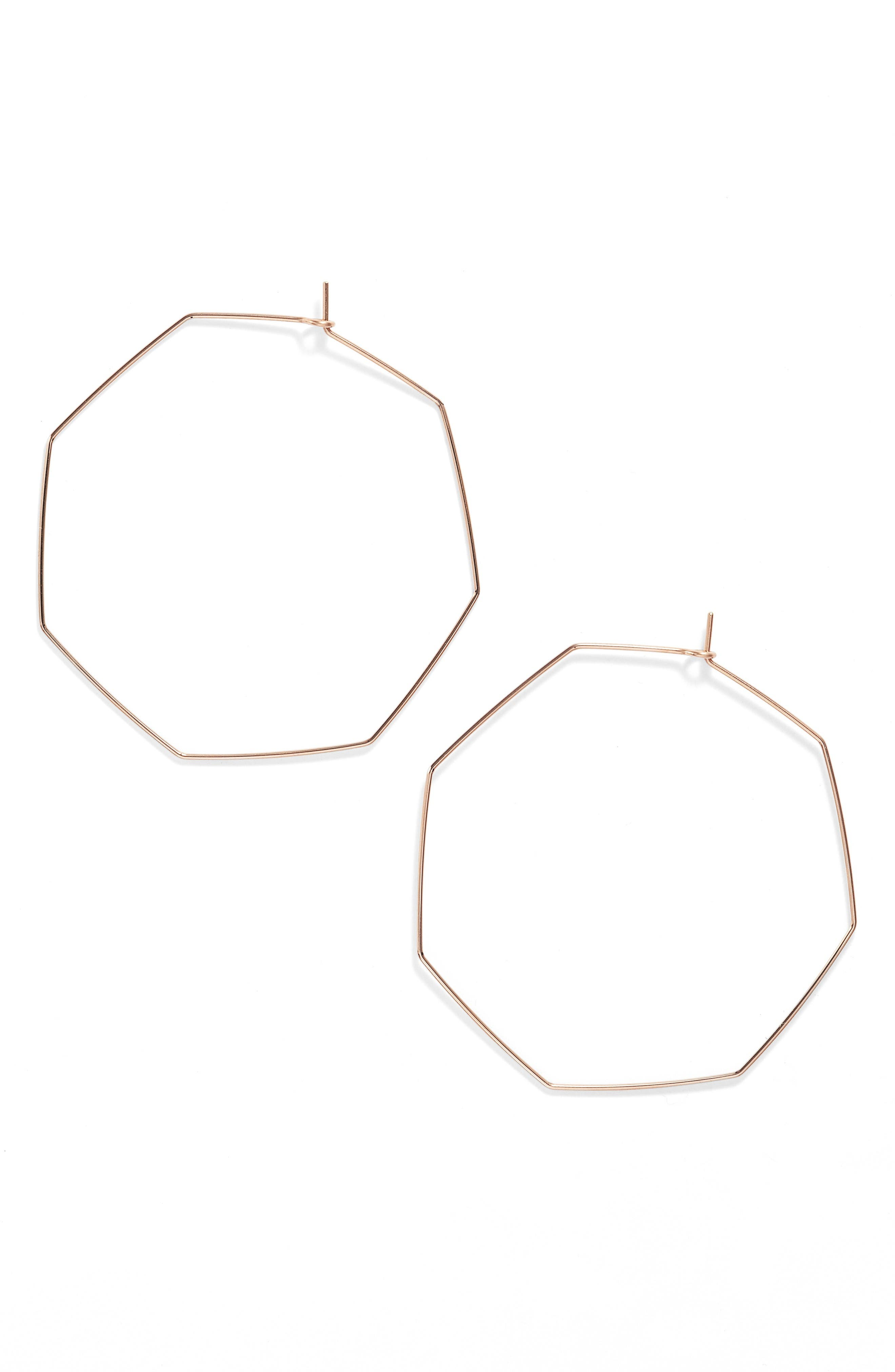 Nashelle Octagon Hoop Earrings