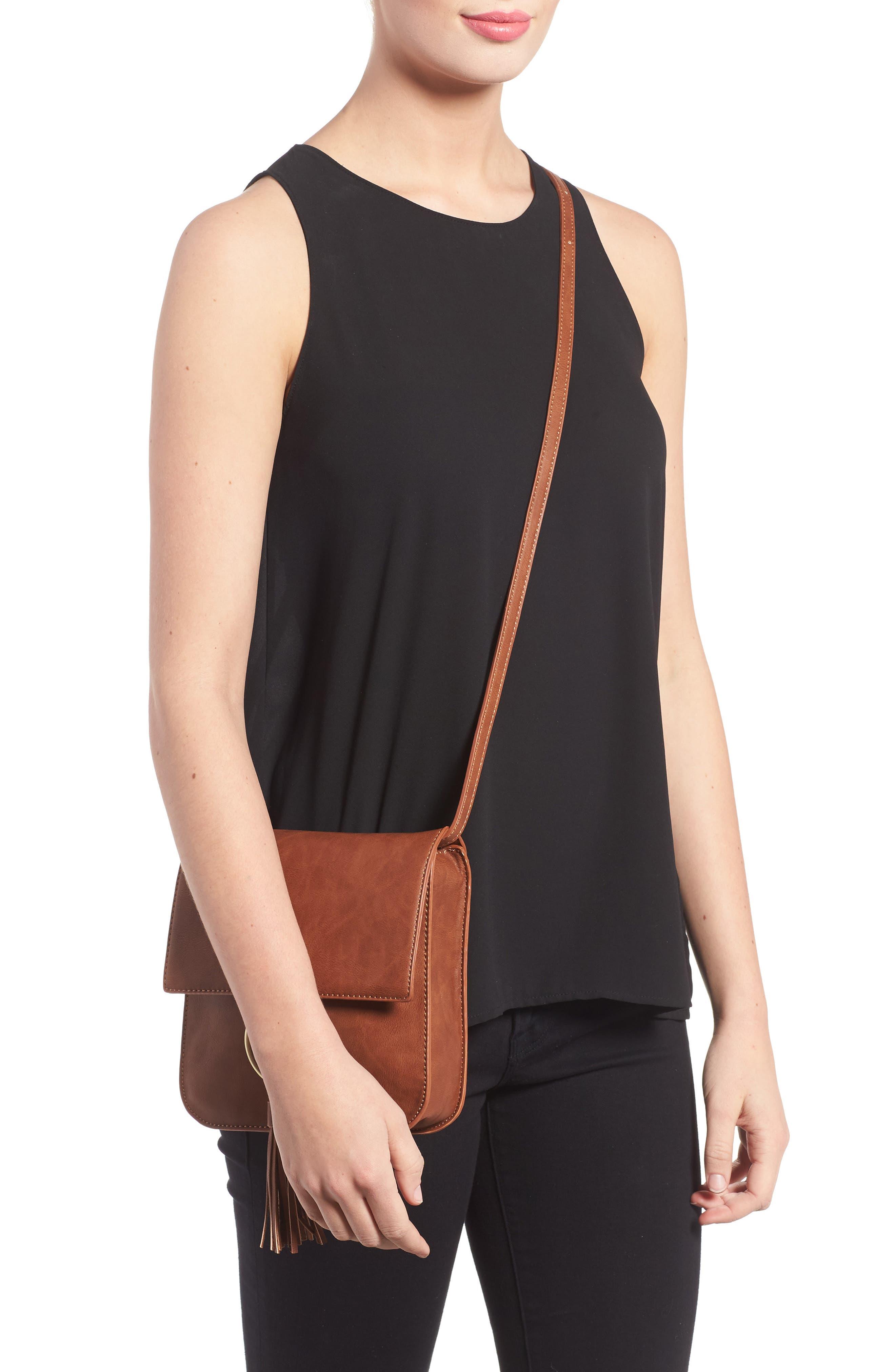 Alternate Image 2  - Sole Society Square Crossbody Bag