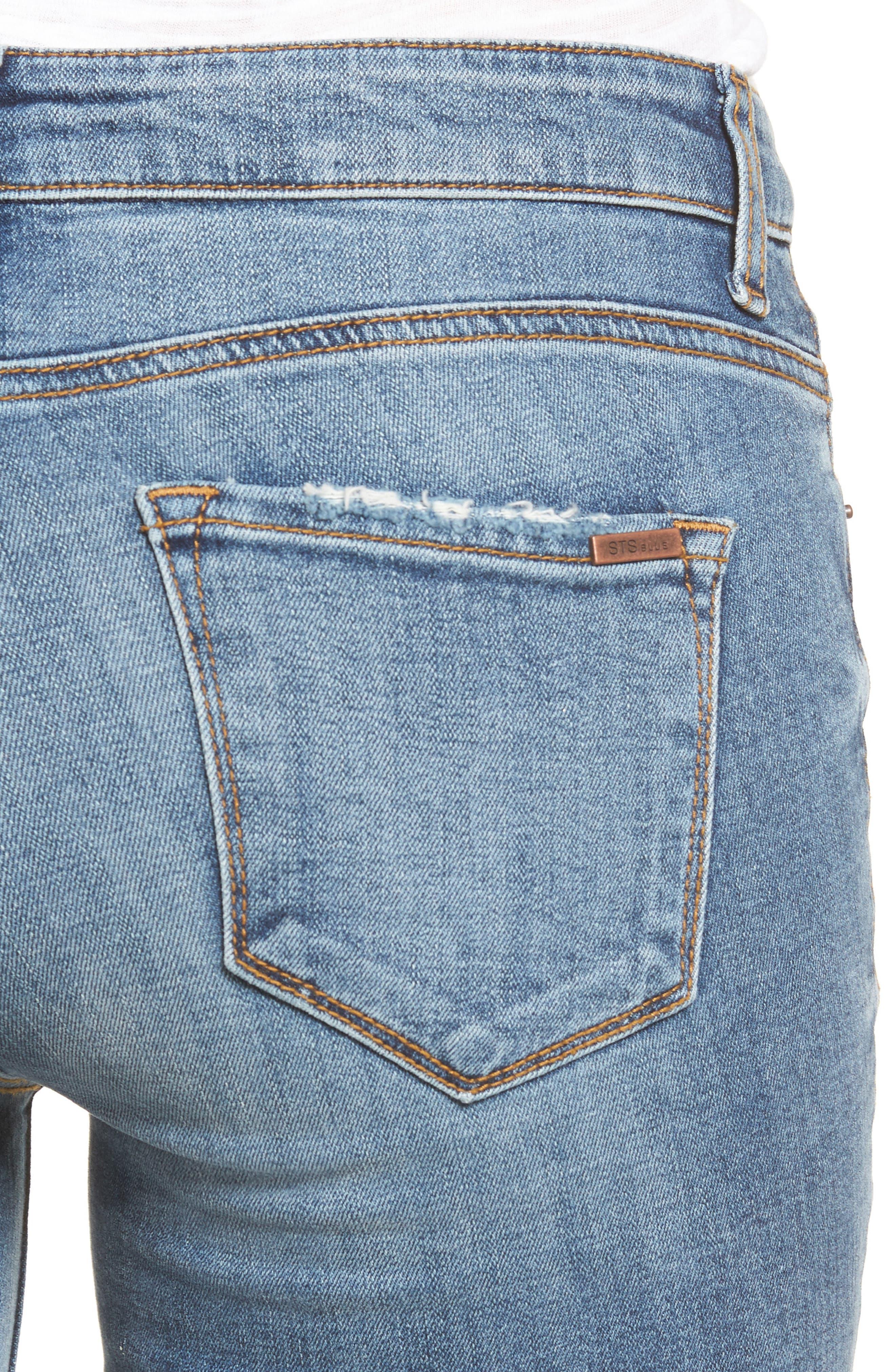 Alternate Image 4  - STS Blue Emma Frayed Hem Skinny Jeans (Elings Park)