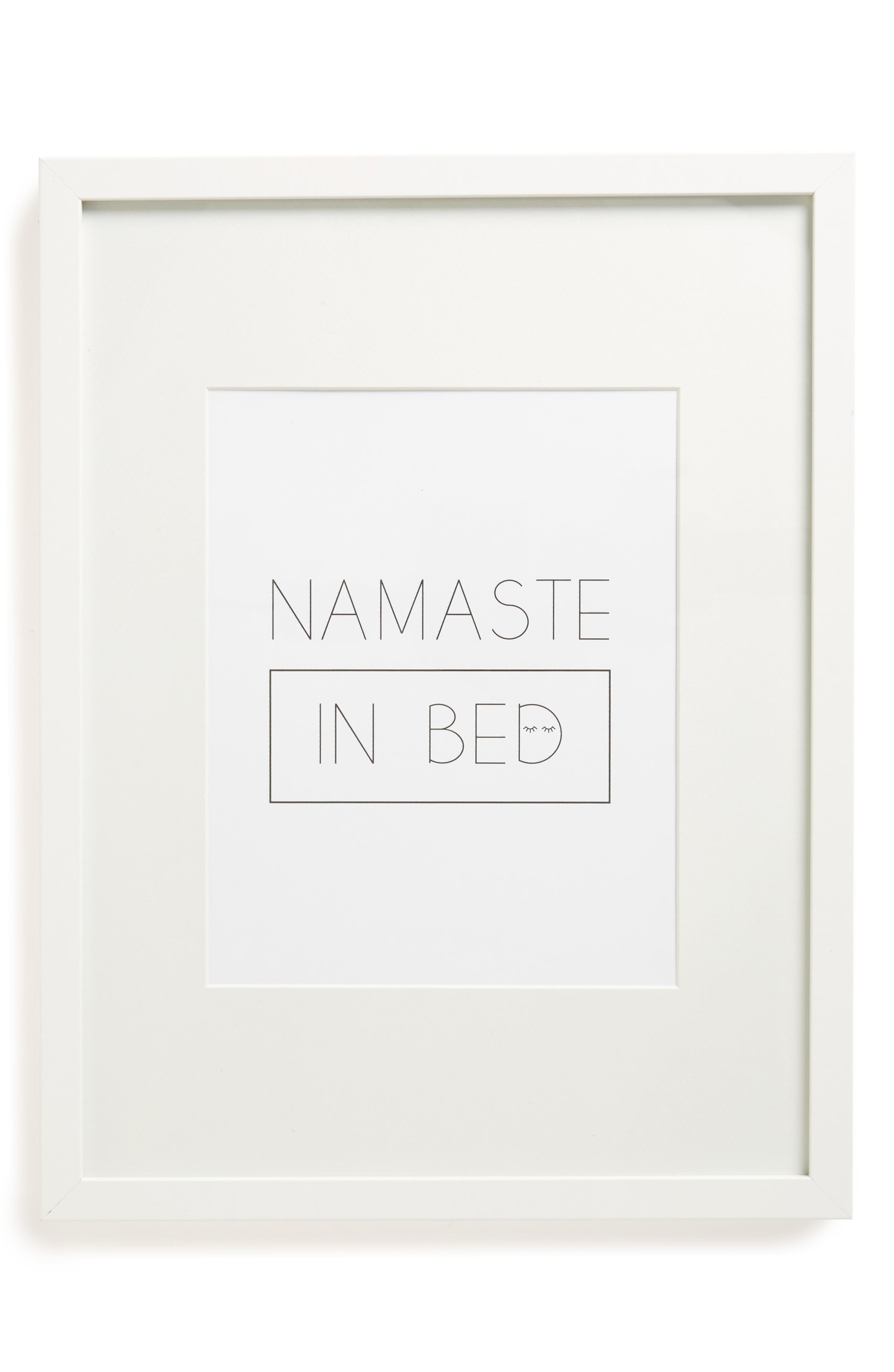 Maly Tross Paper Collective Namaste in Bed Framed Art Print