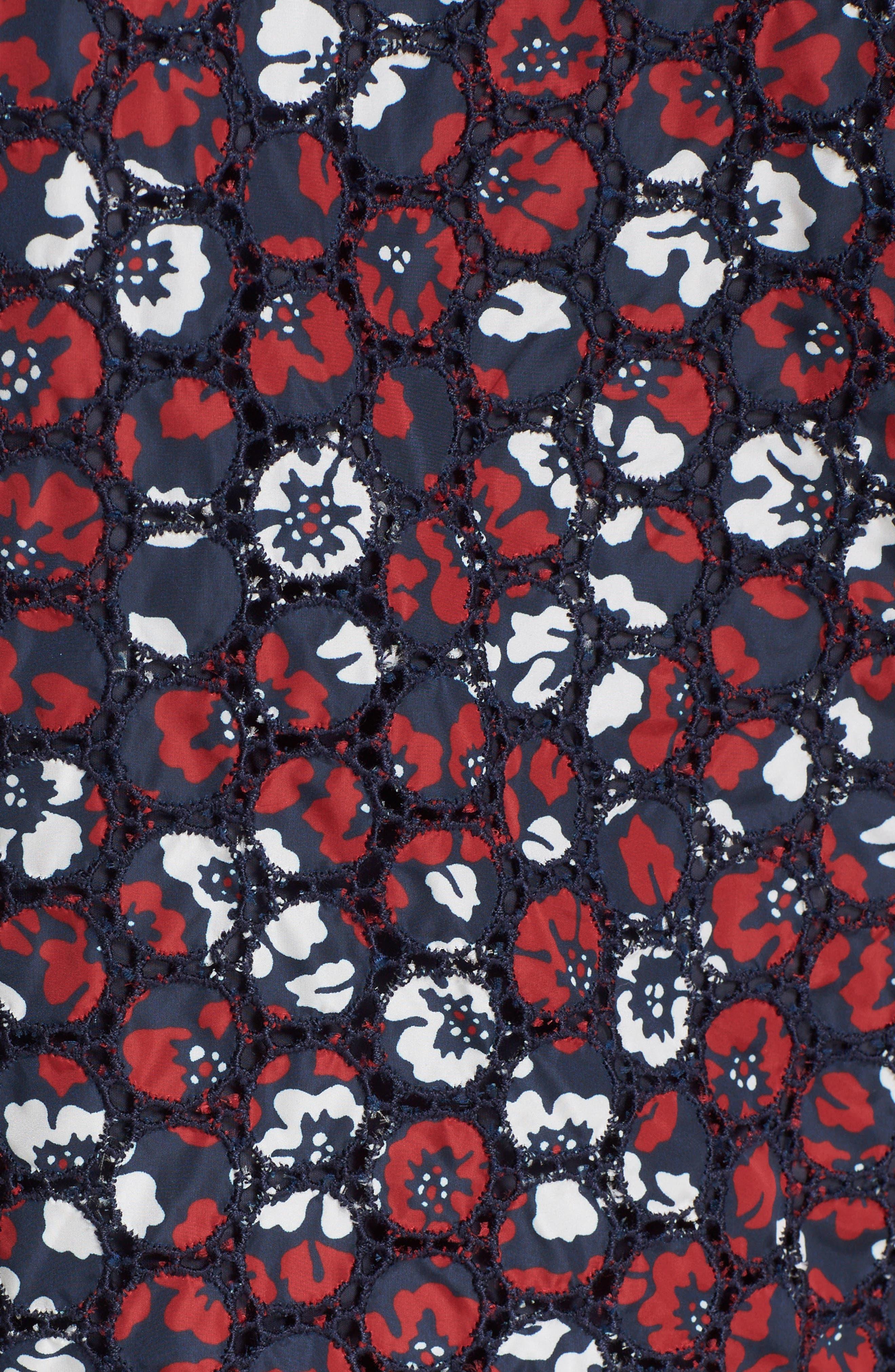 Alternate Image 3  - Moncler Fiadone Floral Eyelet Jacket