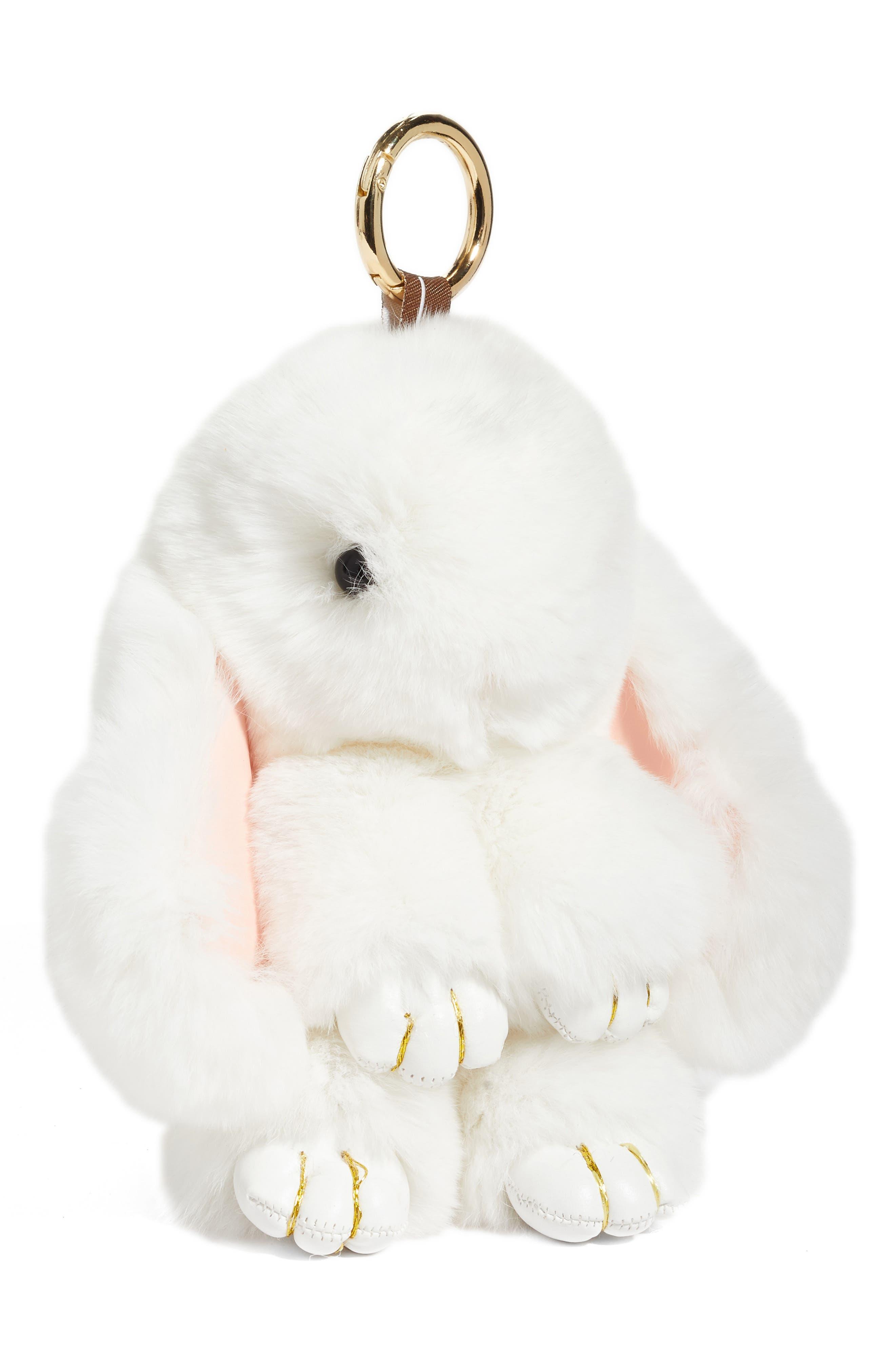 Alternate Image 1 Selected - Natasha Couture Genuine Rabbit Fur Bag Charm