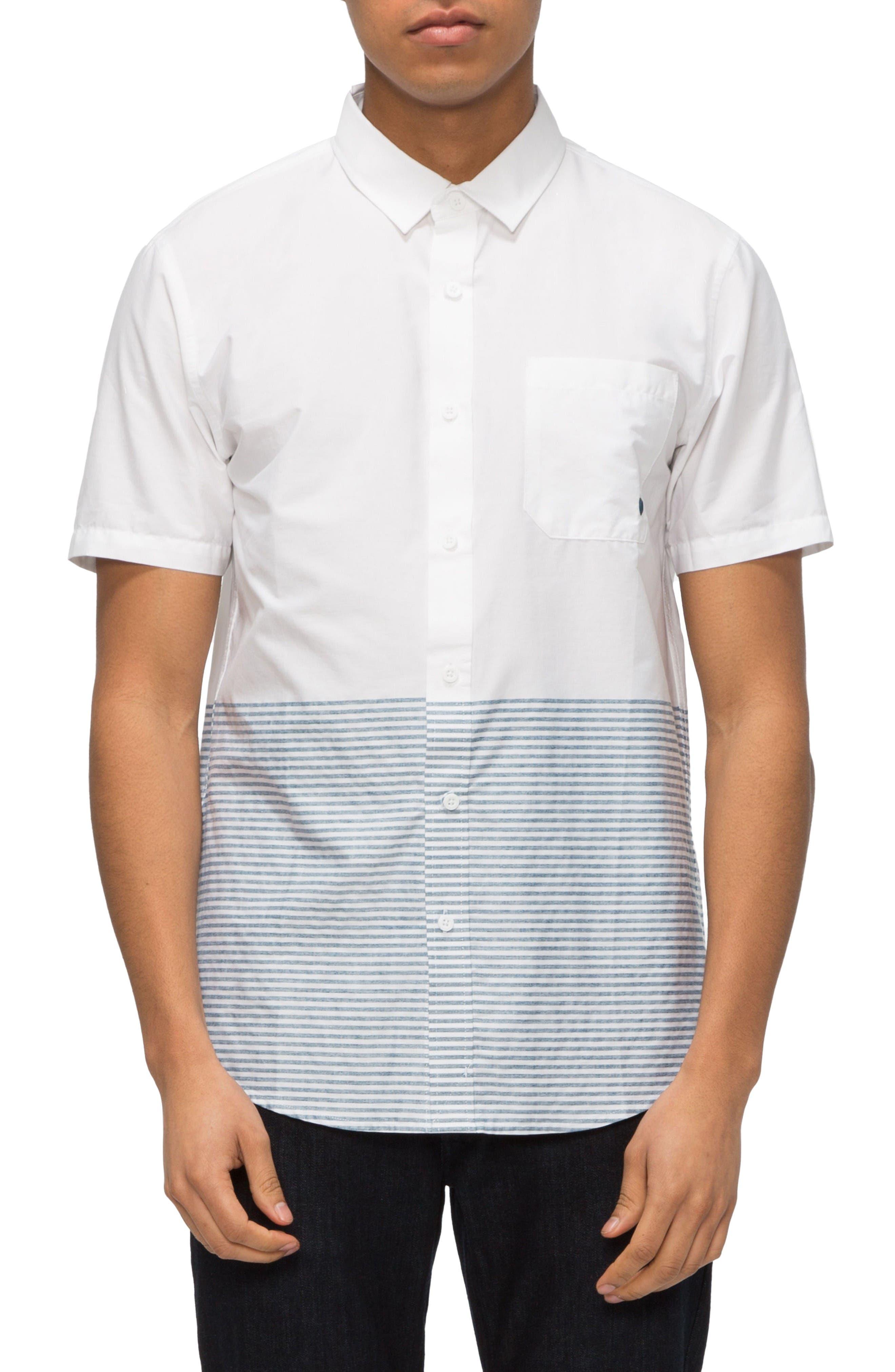 TAVIK Wiltern Stripe Colorblock Woven Shirt