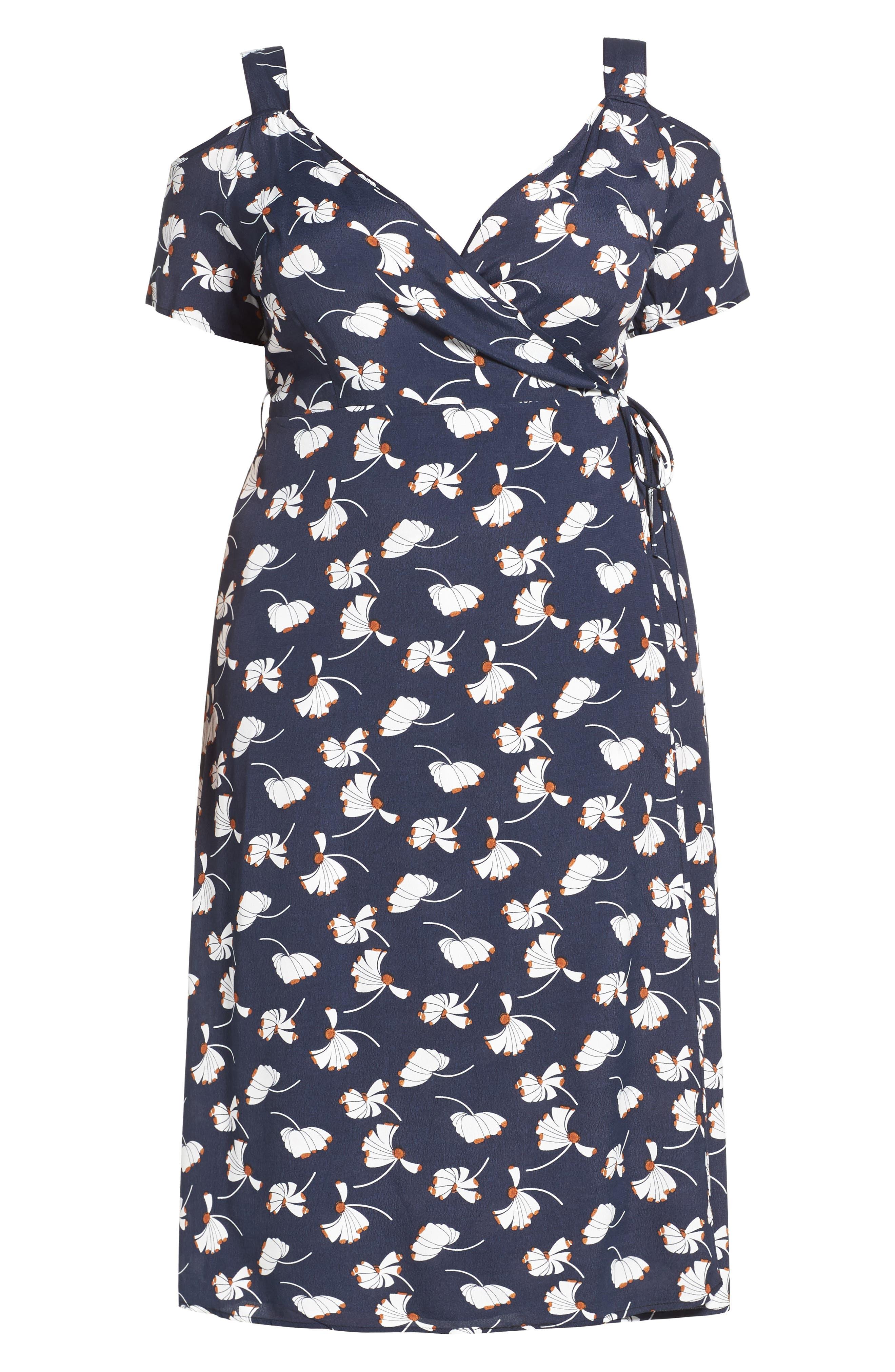 Alternate Image 5  - Glamorous Cold Shoulder Wrap Dress (Plus Size)