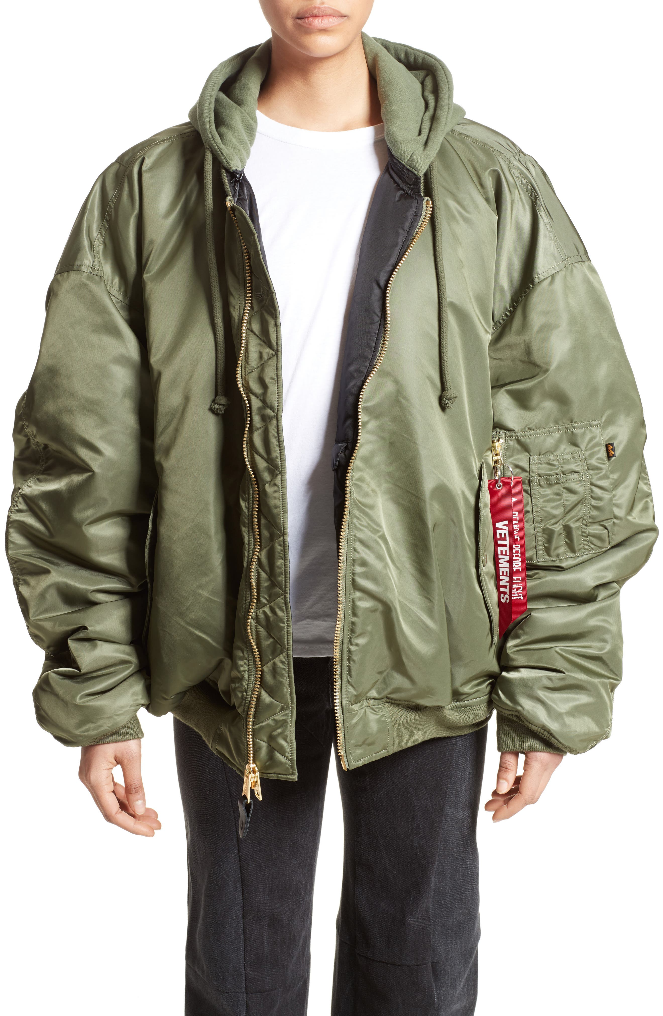 Vetements Oversized Reversible Bomber Jacket