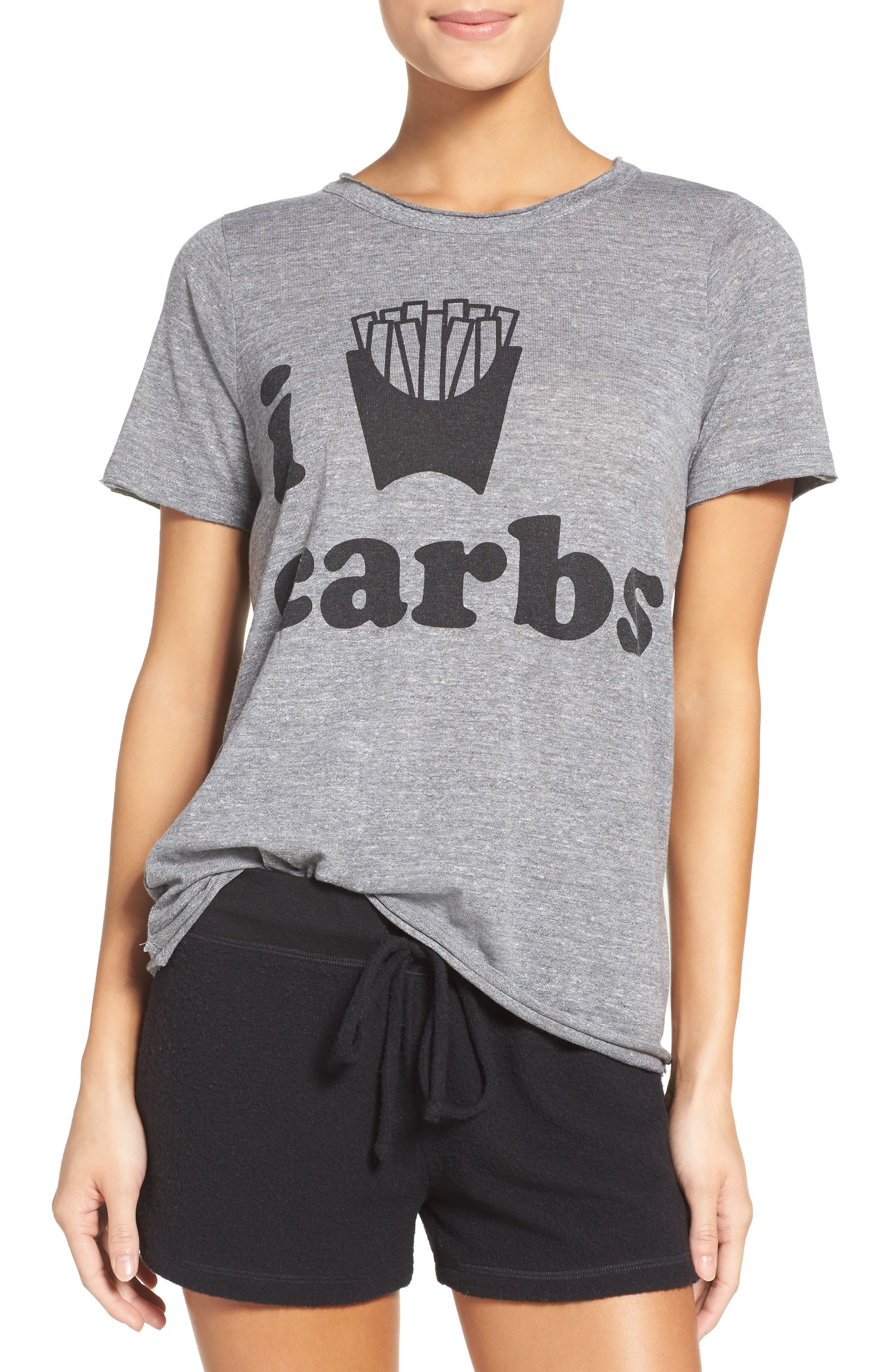 Alternate Image 1 Selected - Chaser I Love Carbs Tee