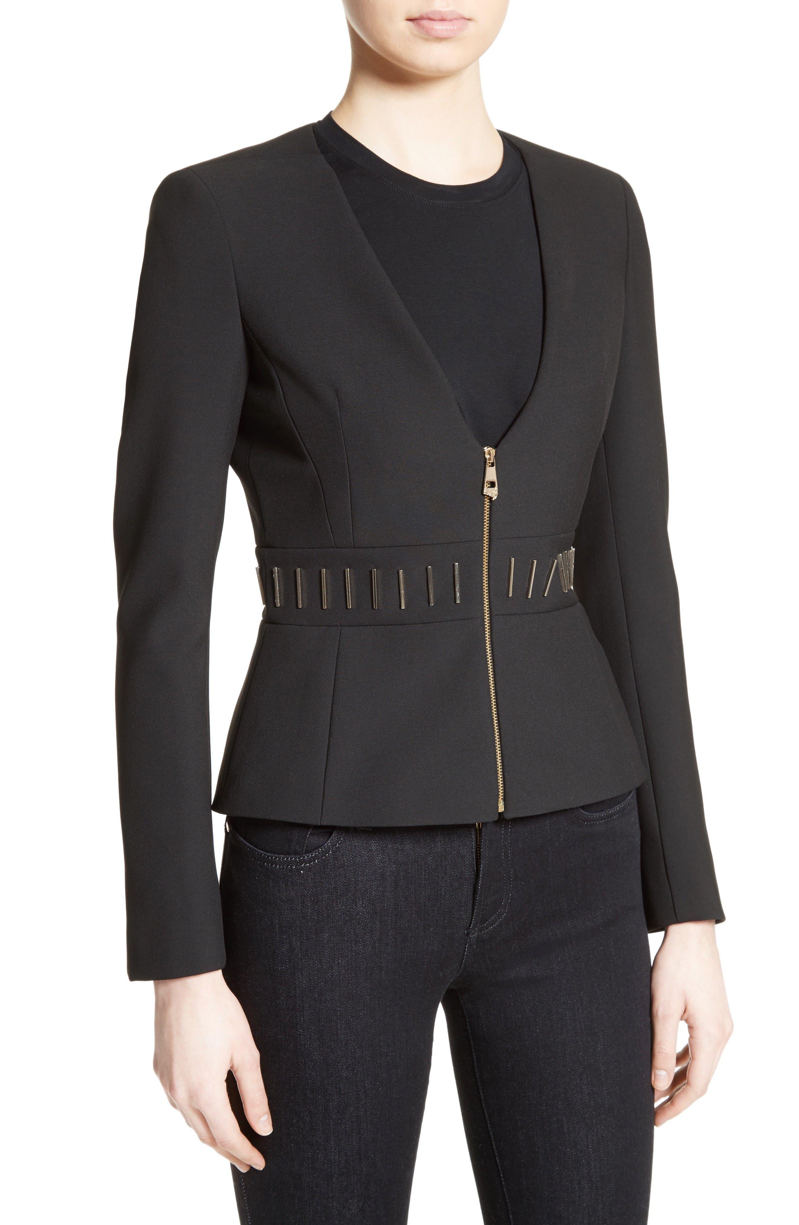 Alternate Image 6  - Versace Collection Bar Detail Cady Jacket
