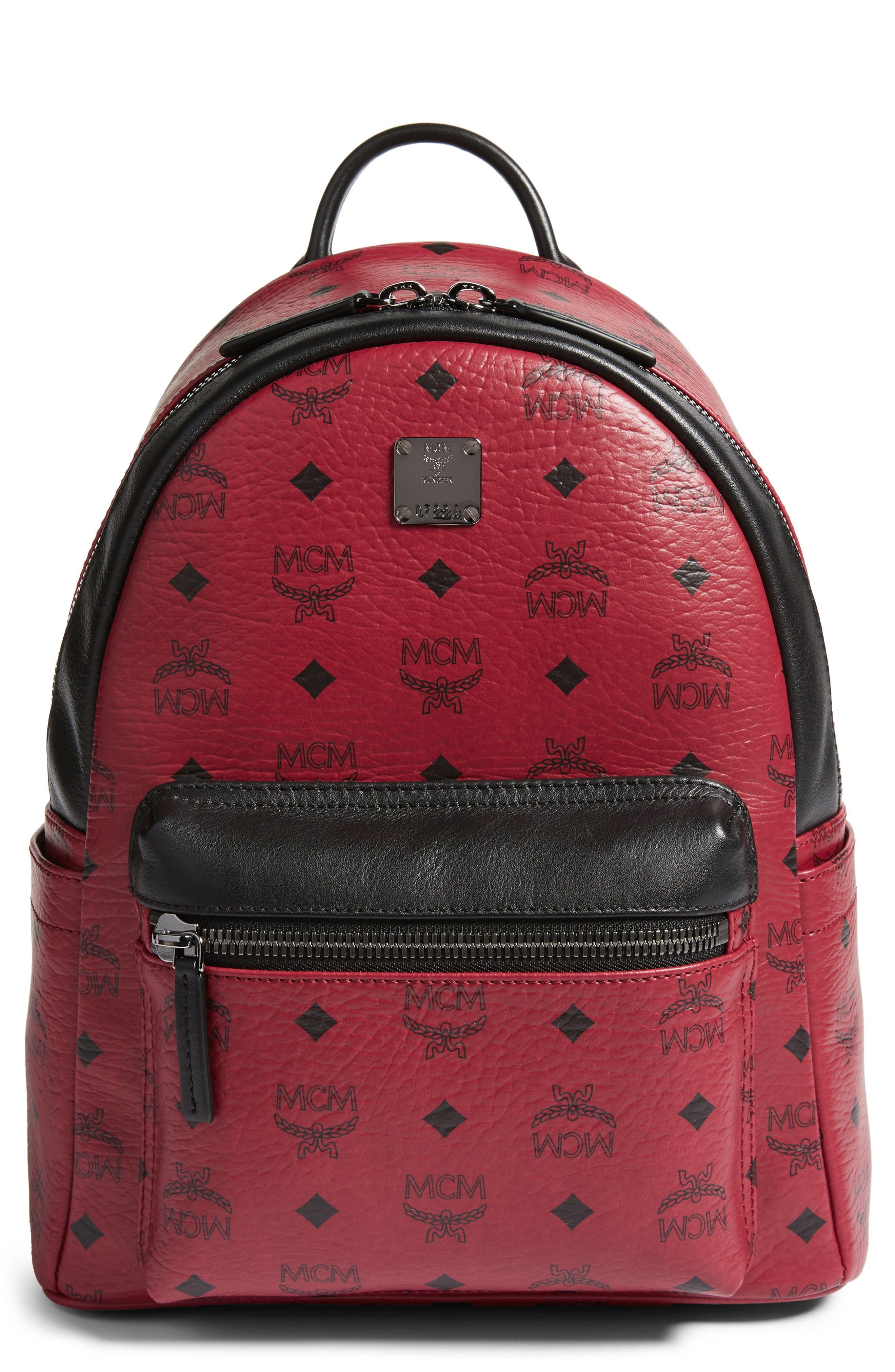 MCM Small Stark Coated Canvas Backpack