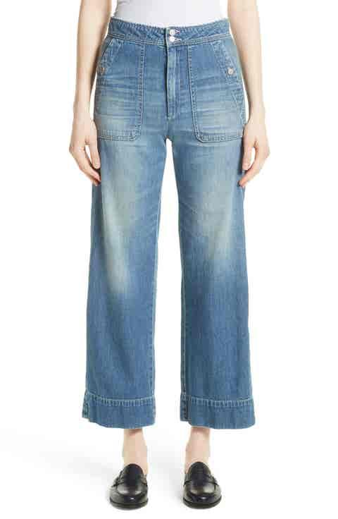 La Vie Rebecca Taylor Delphine Wide Leg Jeans (Riviera)