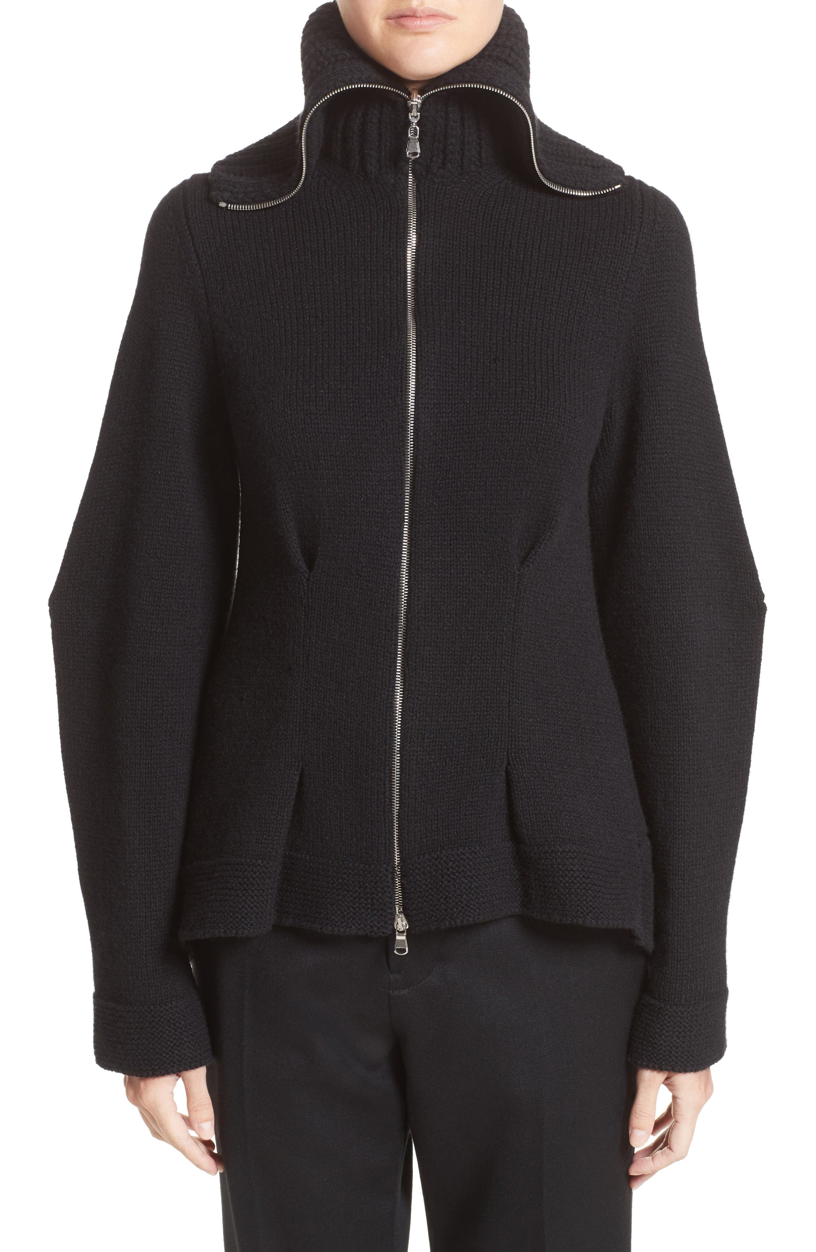 Alexander McQueen Knit Turtleneck Cardigan