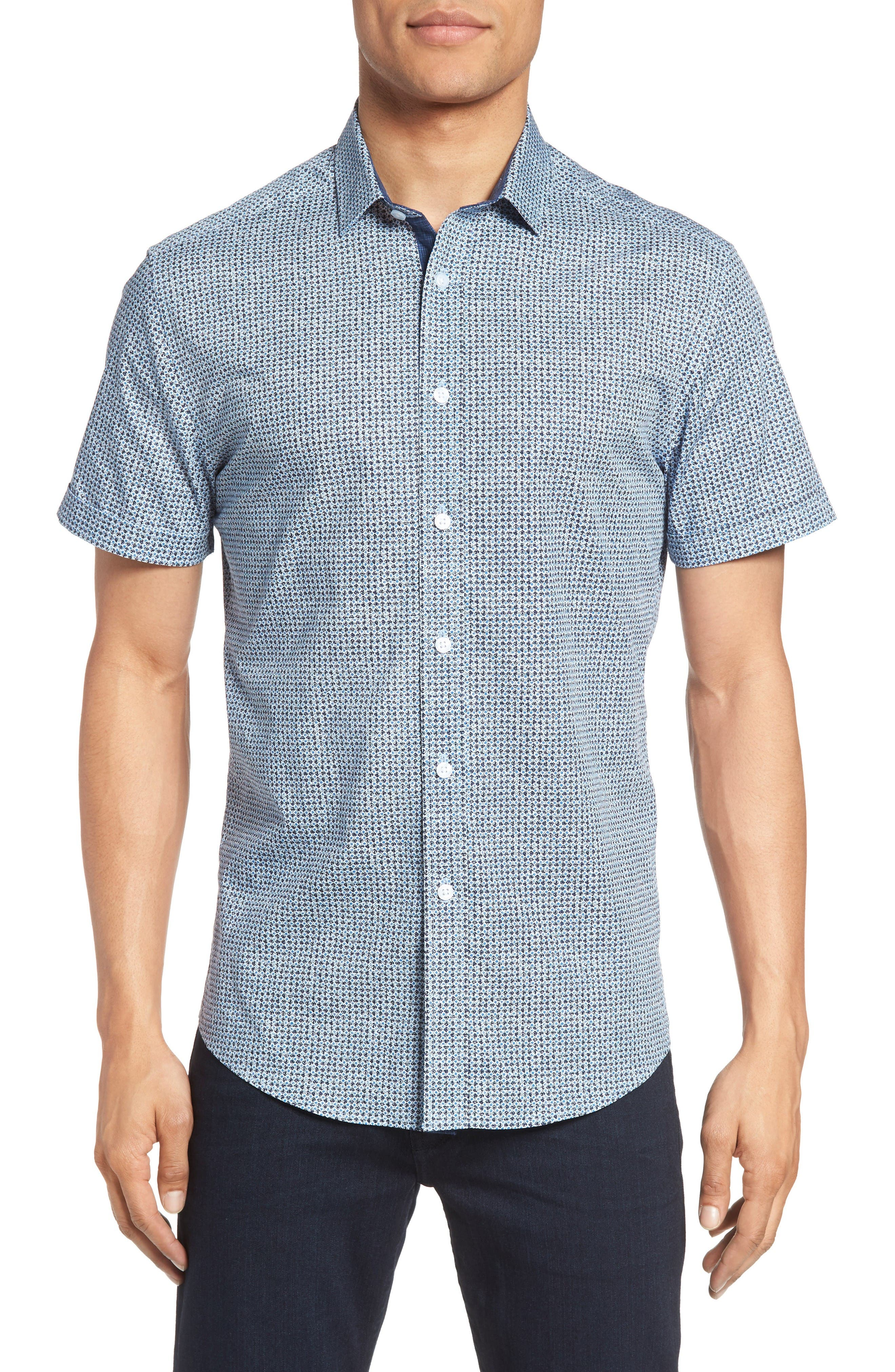 Vince Camuto Abstract Print Sport Shirt