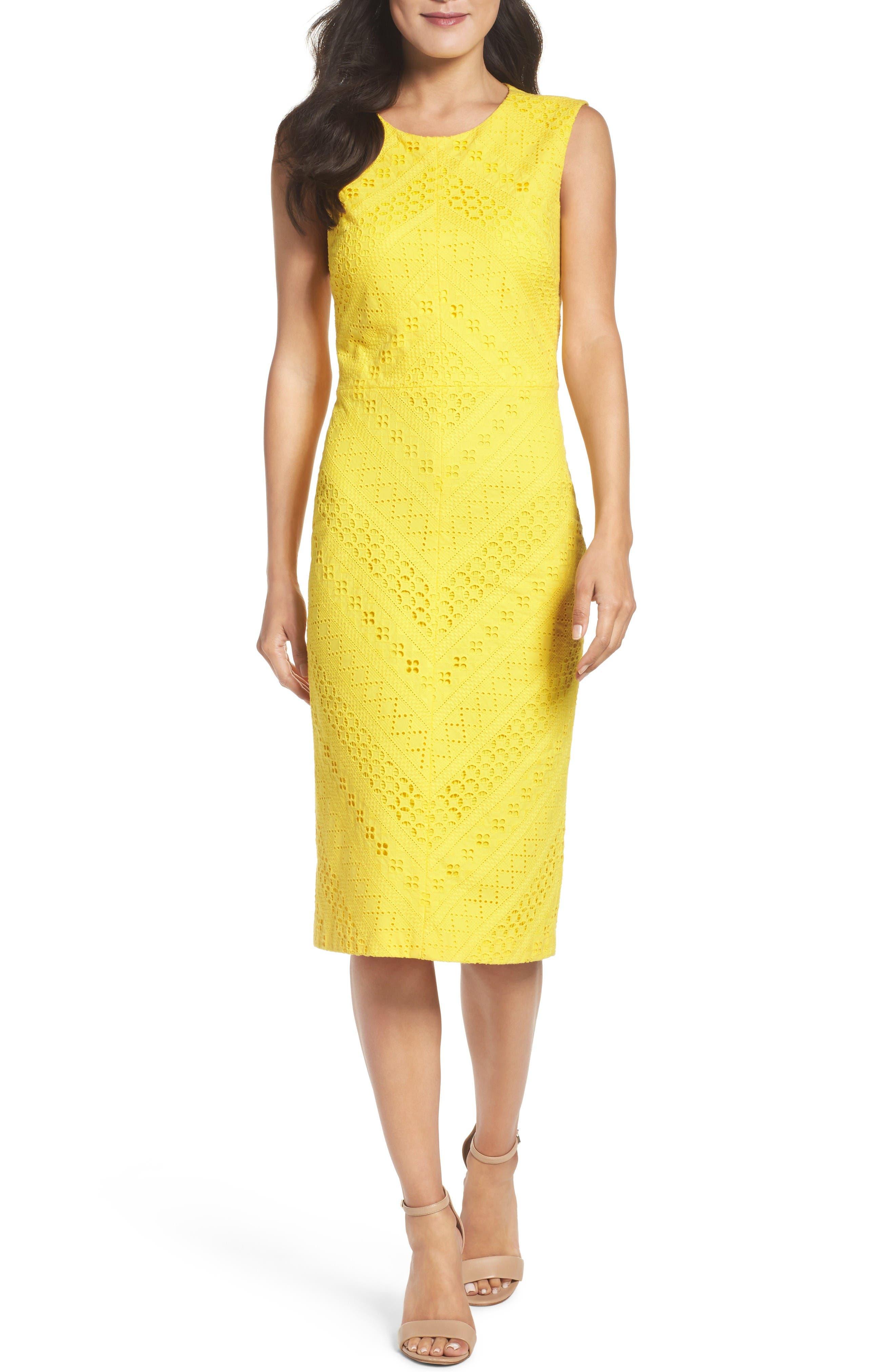 Maggy London Lace Sheath Dress