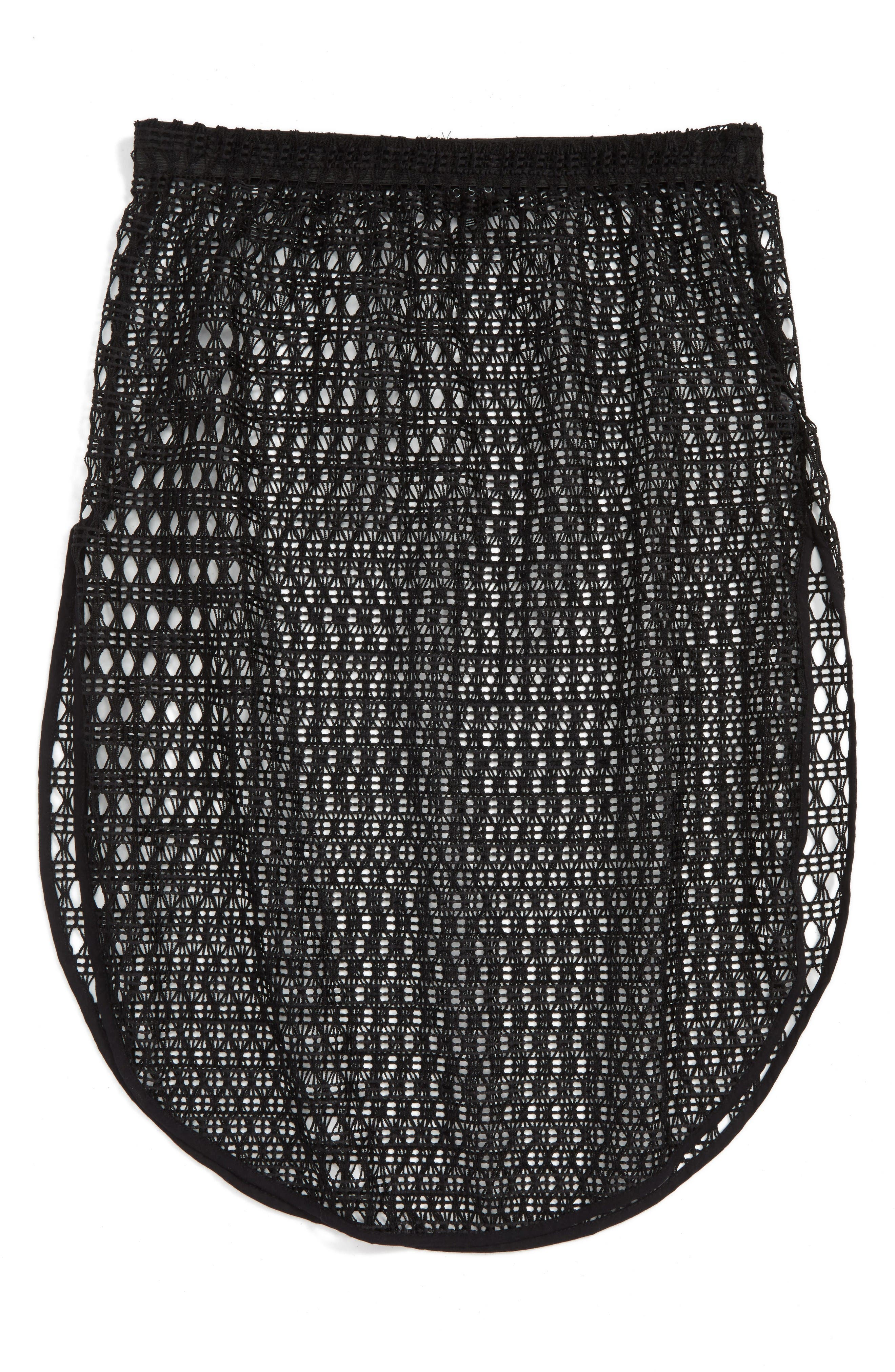 Main Image - Topshop Lace Cover-Up Skirt
