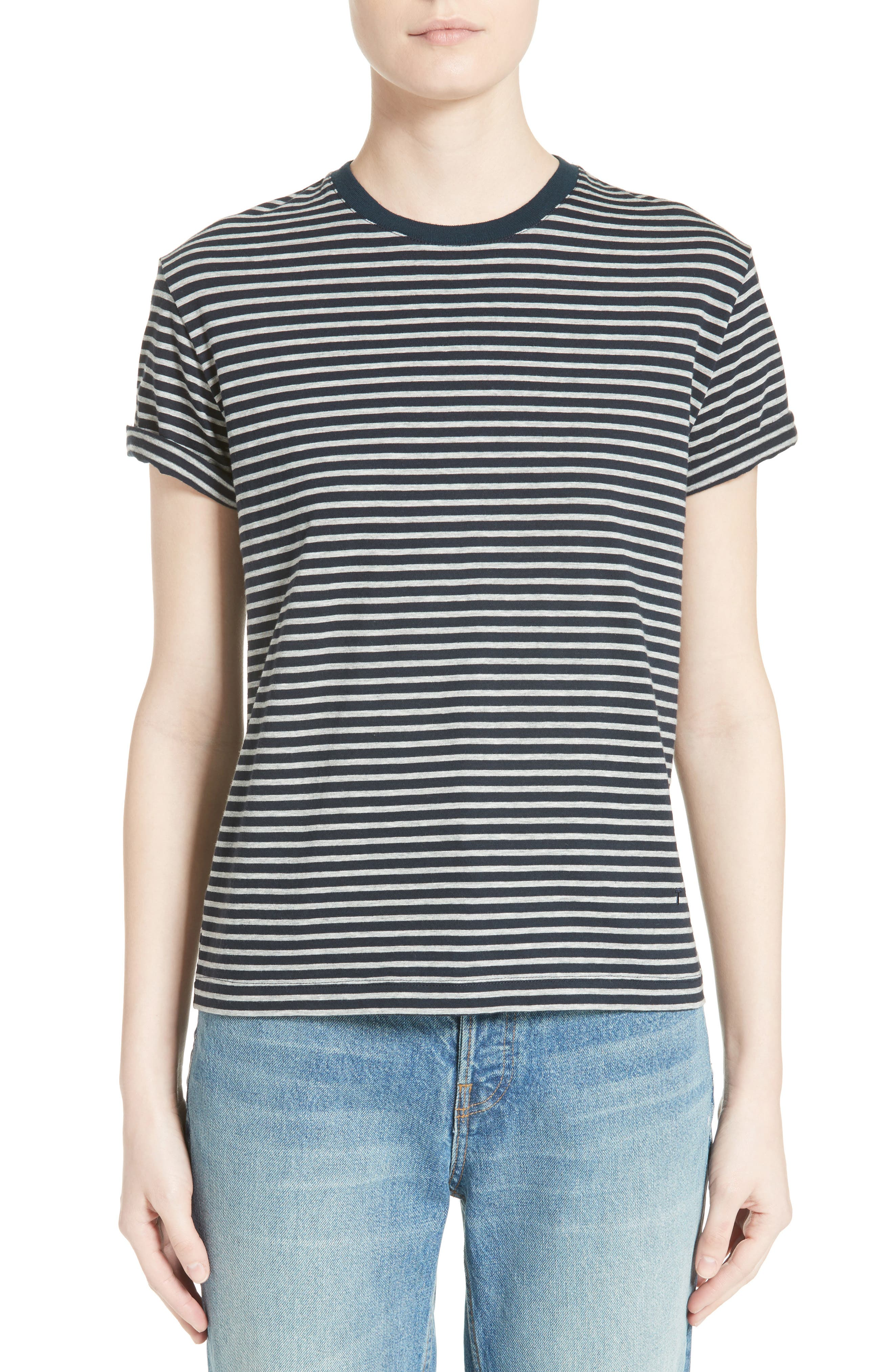 T by Alexander Wang Stripe Cotton Tee