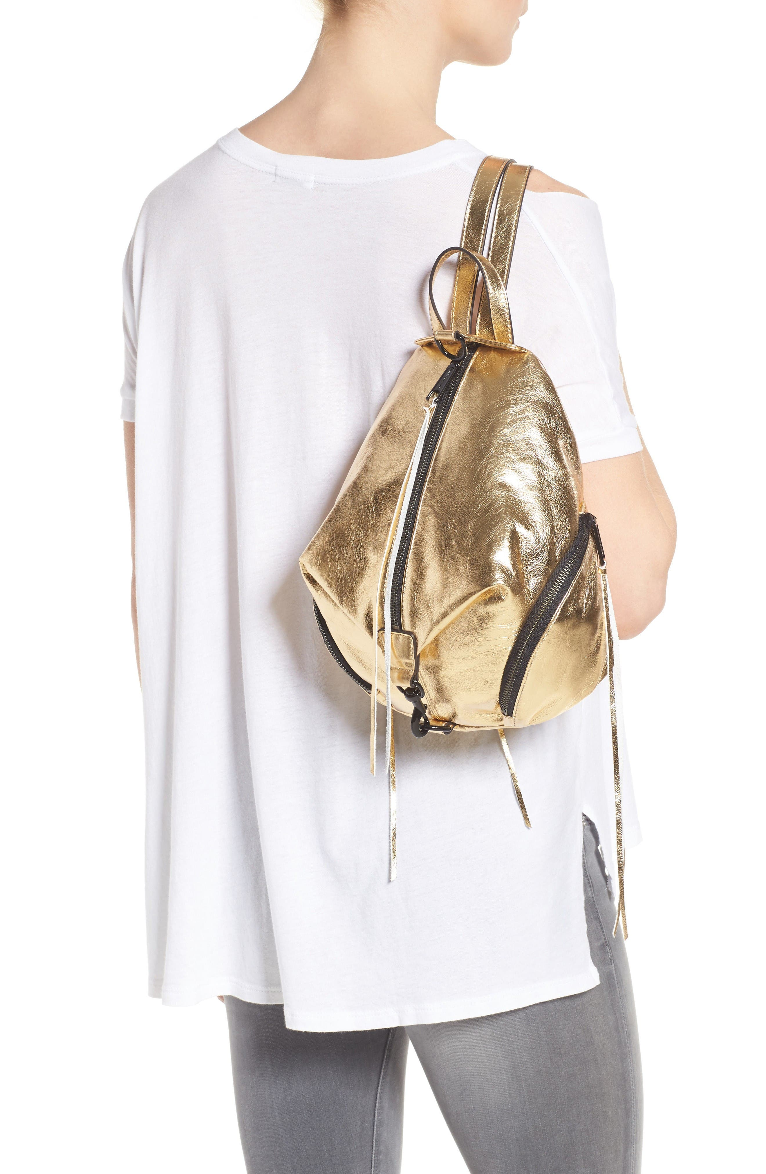 Alternate Image 2  - Rebecca Minkoff Medium Julian Metallic Leather Backpack (Nordstrom Exclusive)