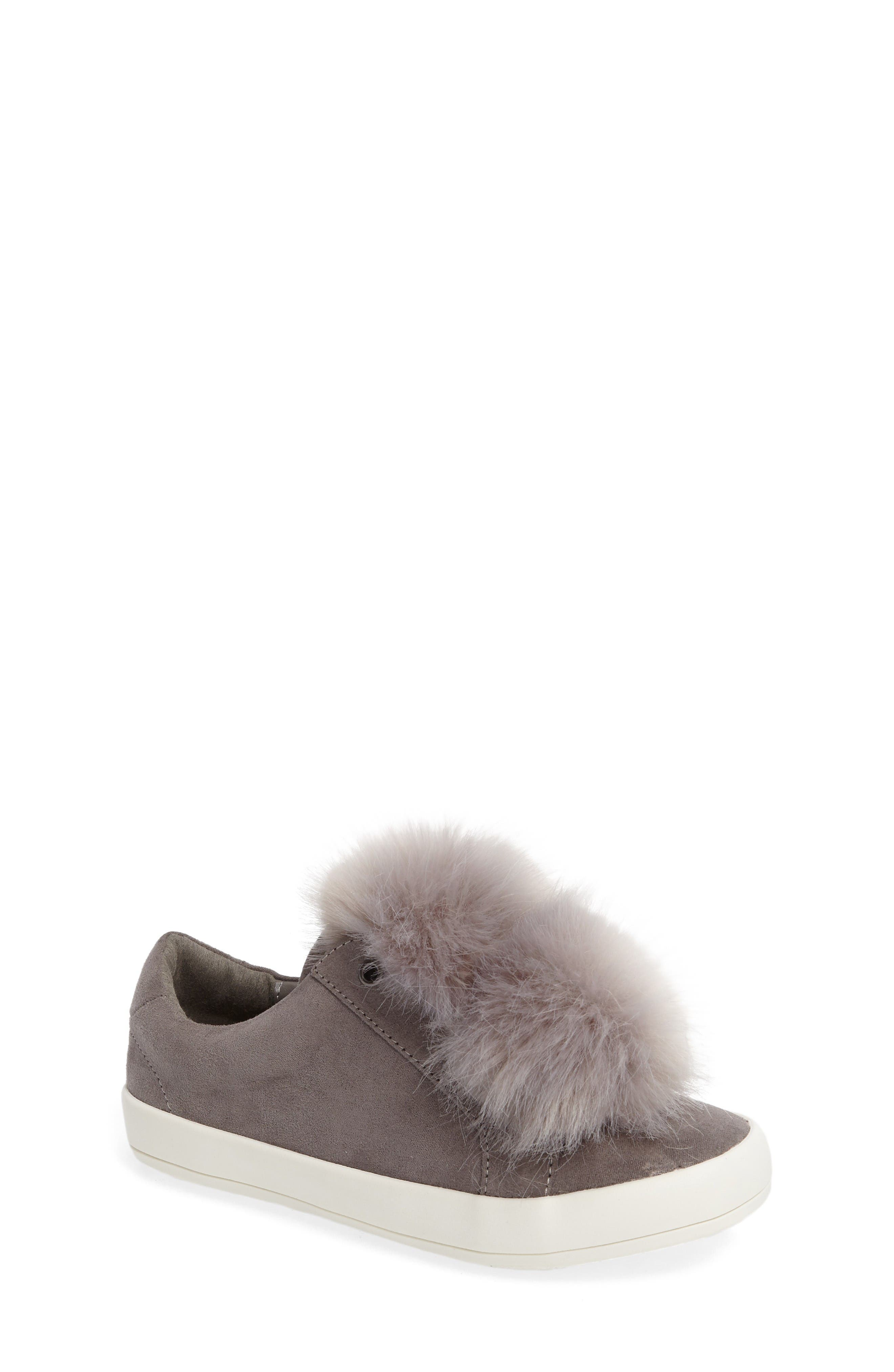 Sam Edelman Cynthia Leya Faux Fur Pompom Slip-On Sneaker (Toddler, Little Kid & Big Kid)