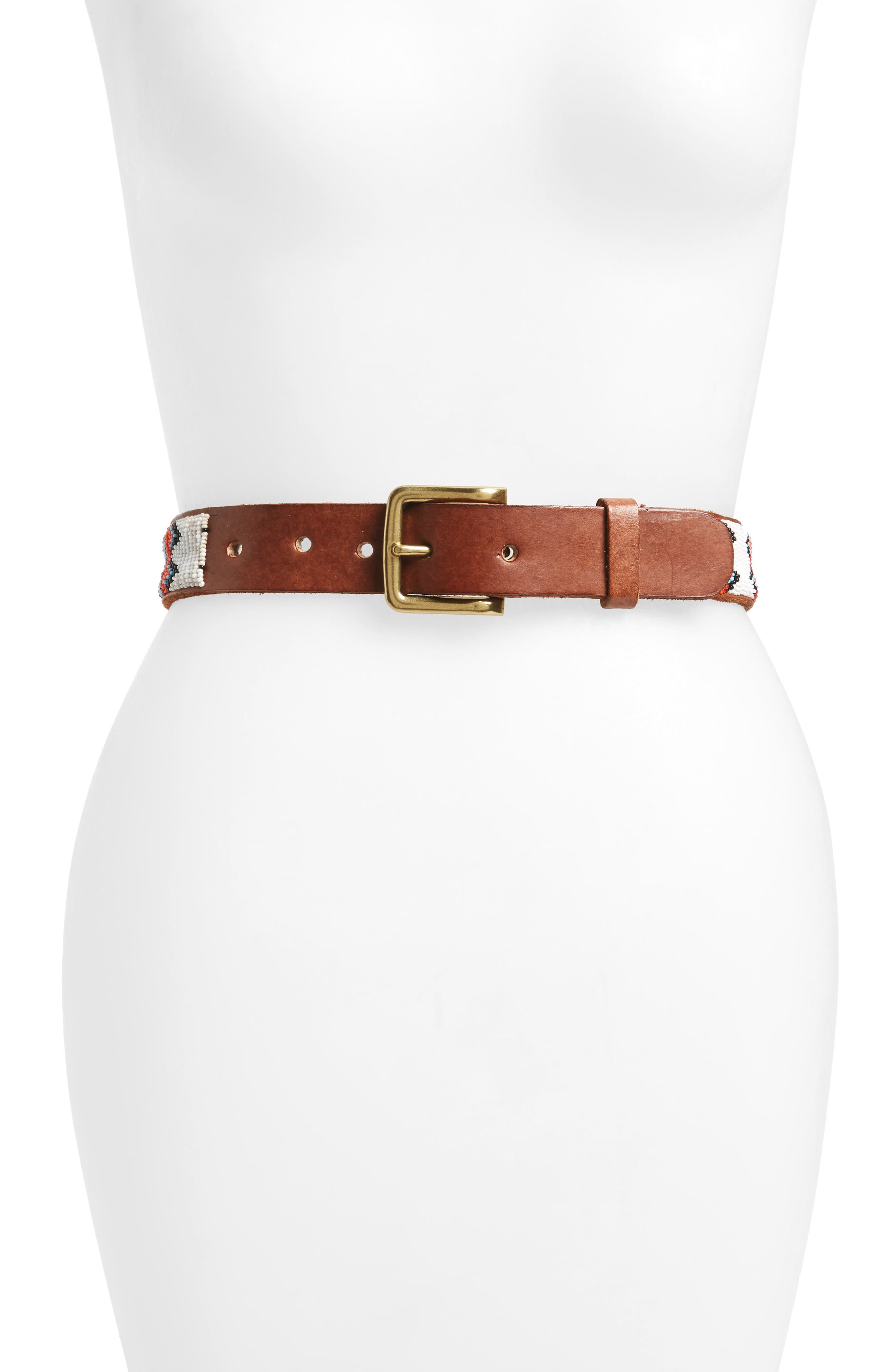 Aspiga Ayo Beaded Leather Belt