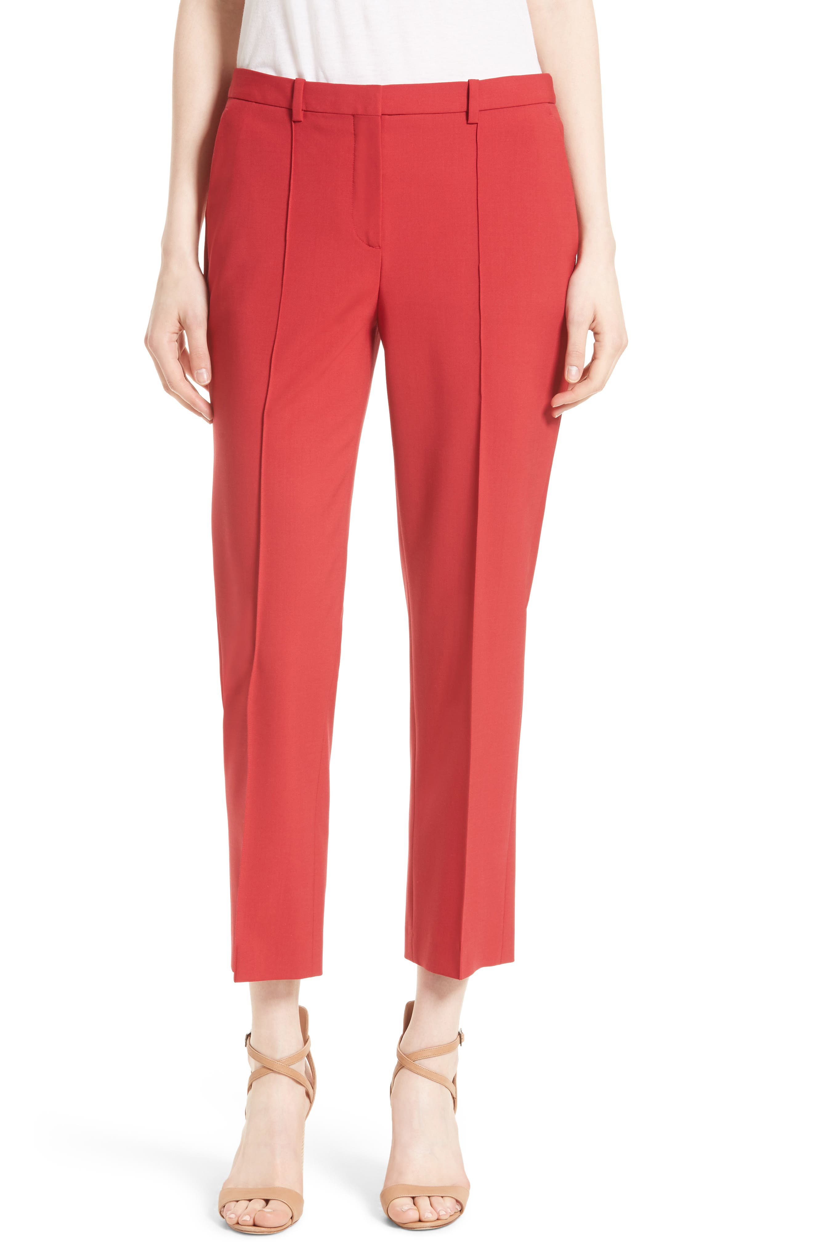 Theory Hartsdale Stretch Wool Crop Pants (Nordstrom Exclusive)