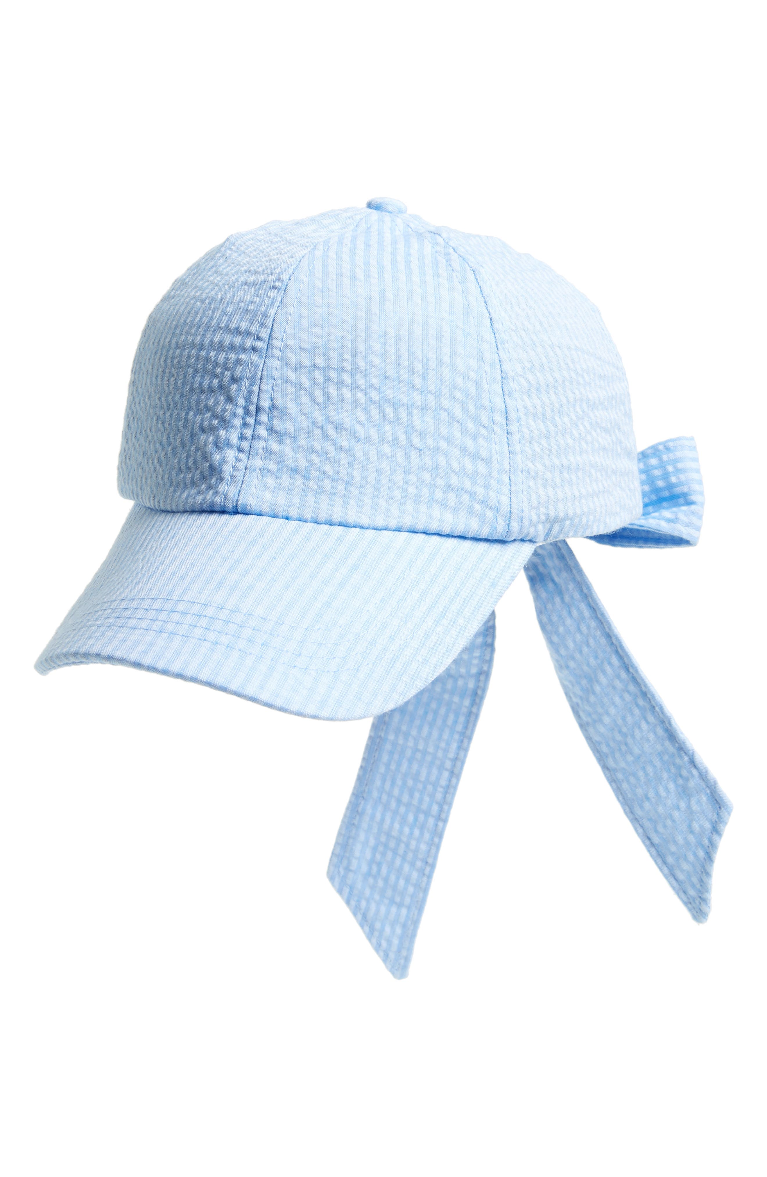 Main Image - Topshop Stripe Bow Back Cap