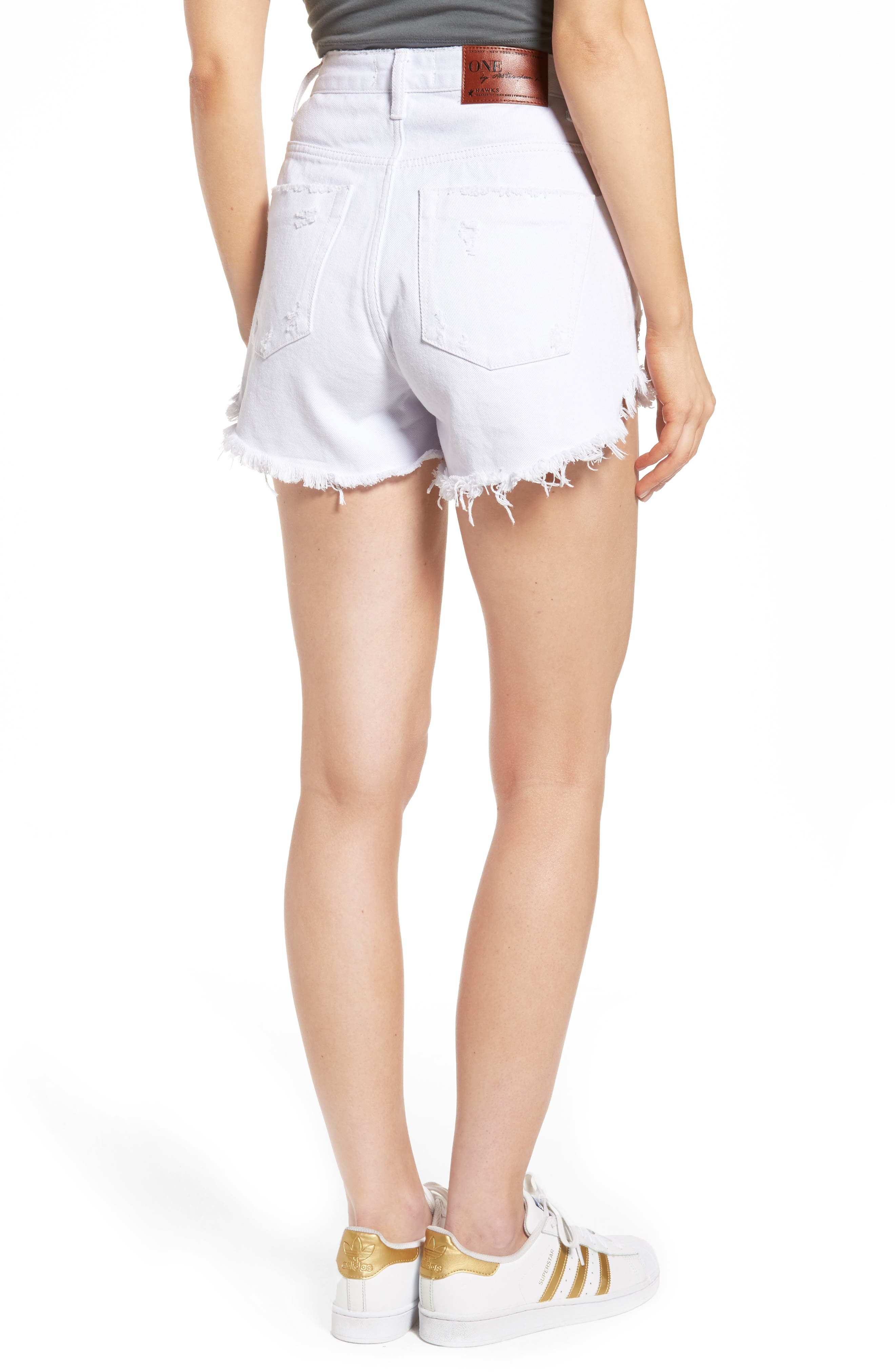 Alternate Image 2  - One Teaspoon Bonita High Waist Denim Shorts