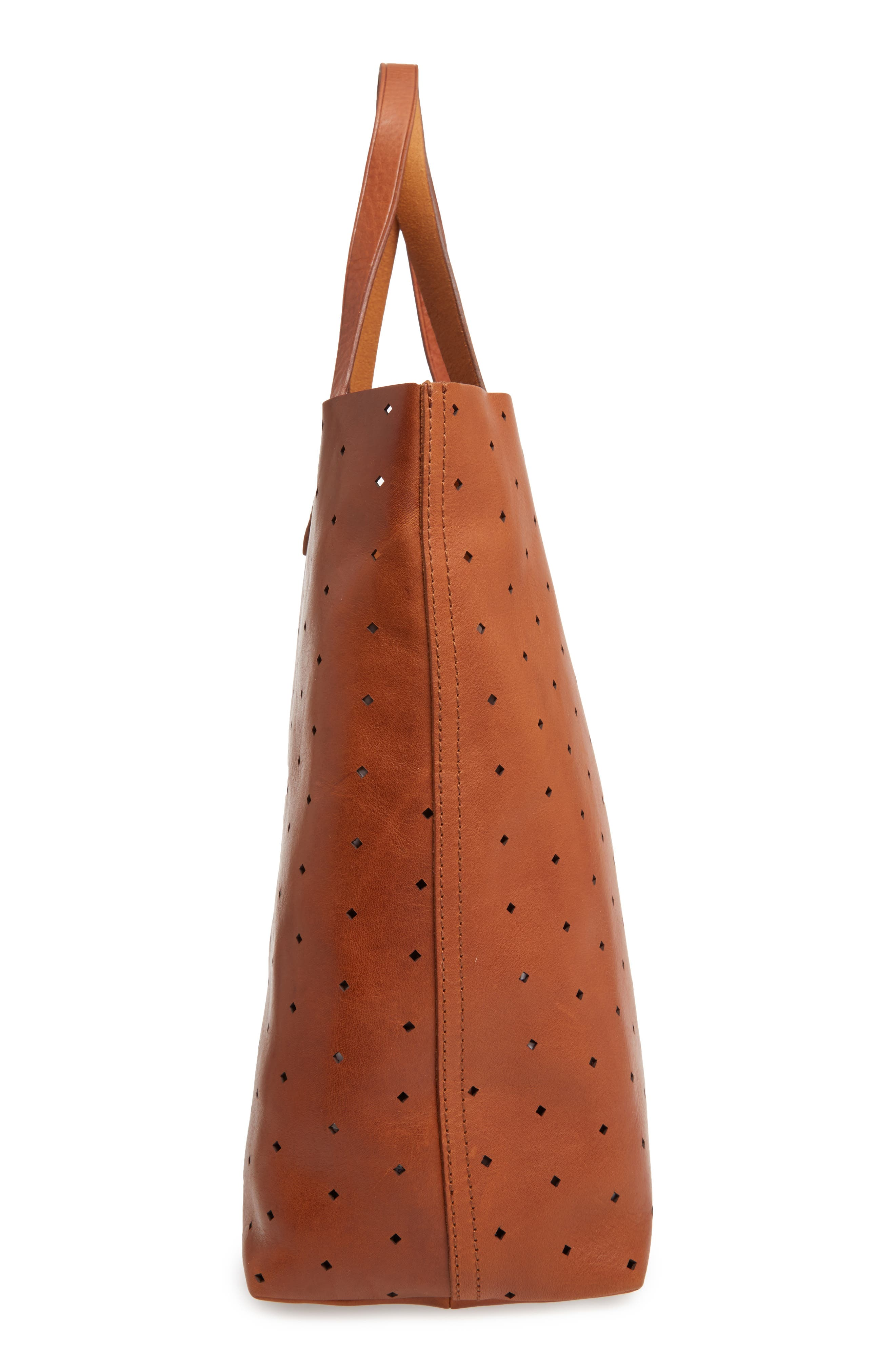 Alternate Image 4  - Madewell Transport Perforated Leather Tote