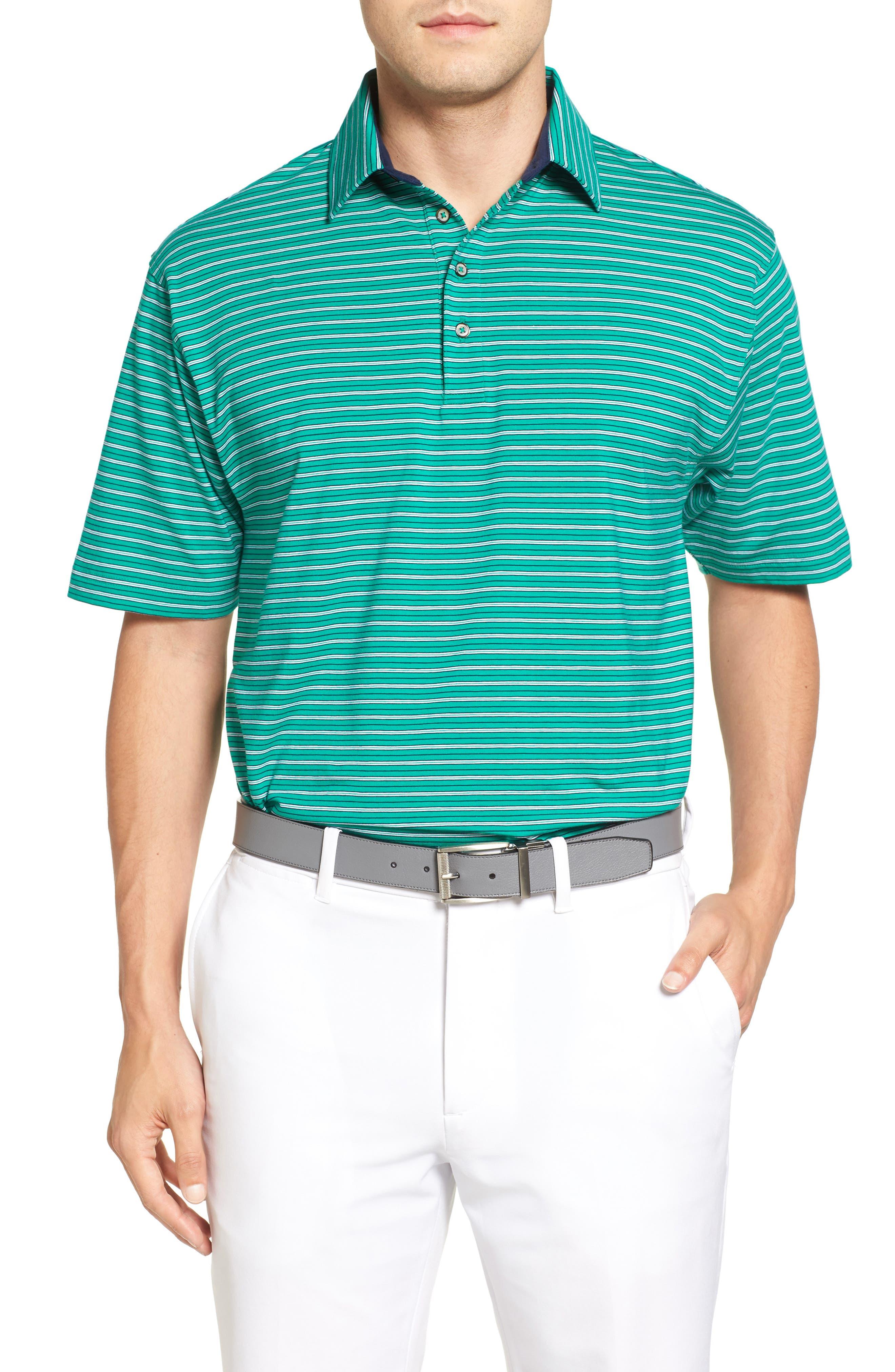 Bobby Jones Liquid Cotton Fine Stripe Polo