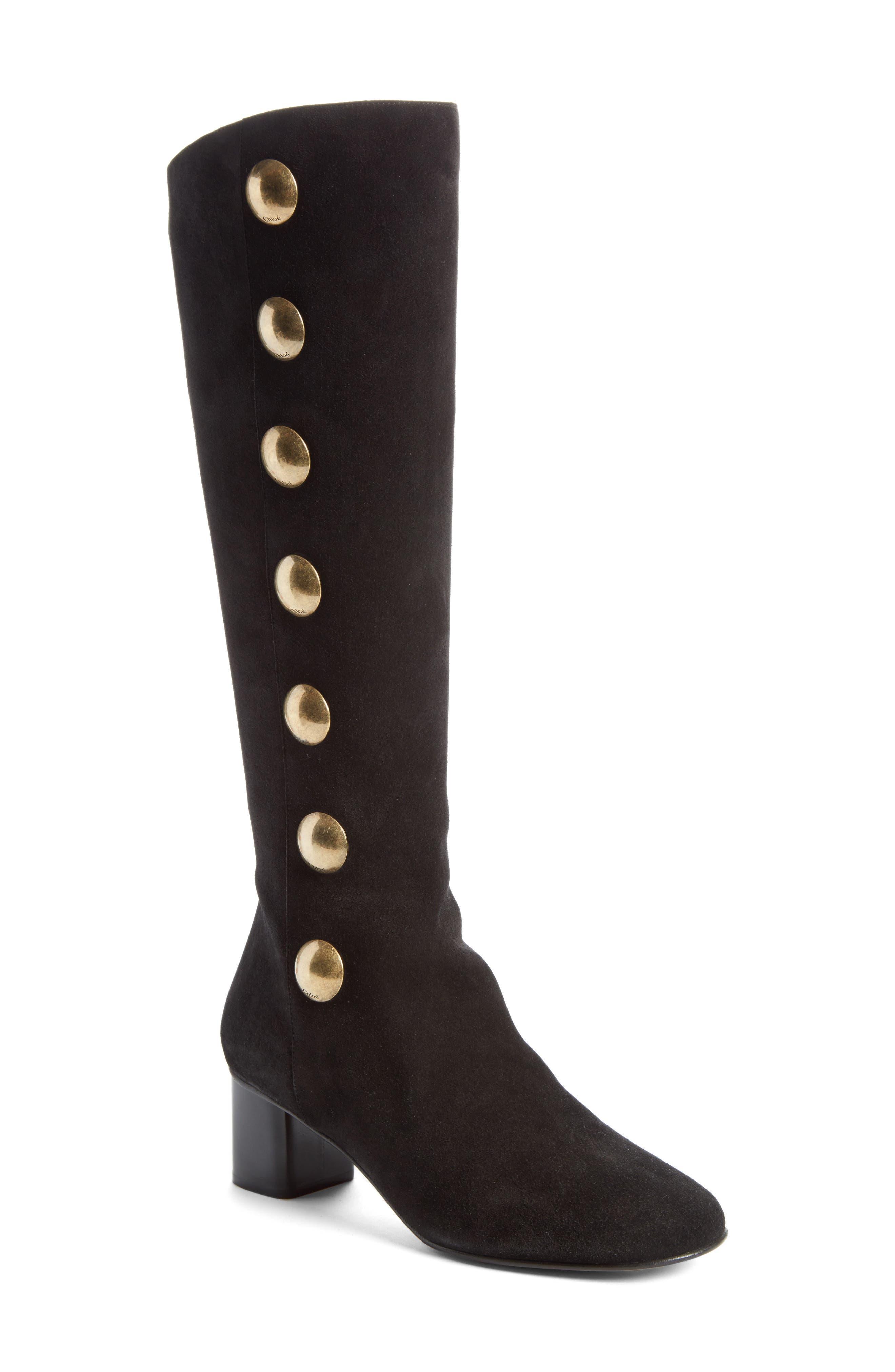 Chloé Orlando Tall Button Boot (Women)