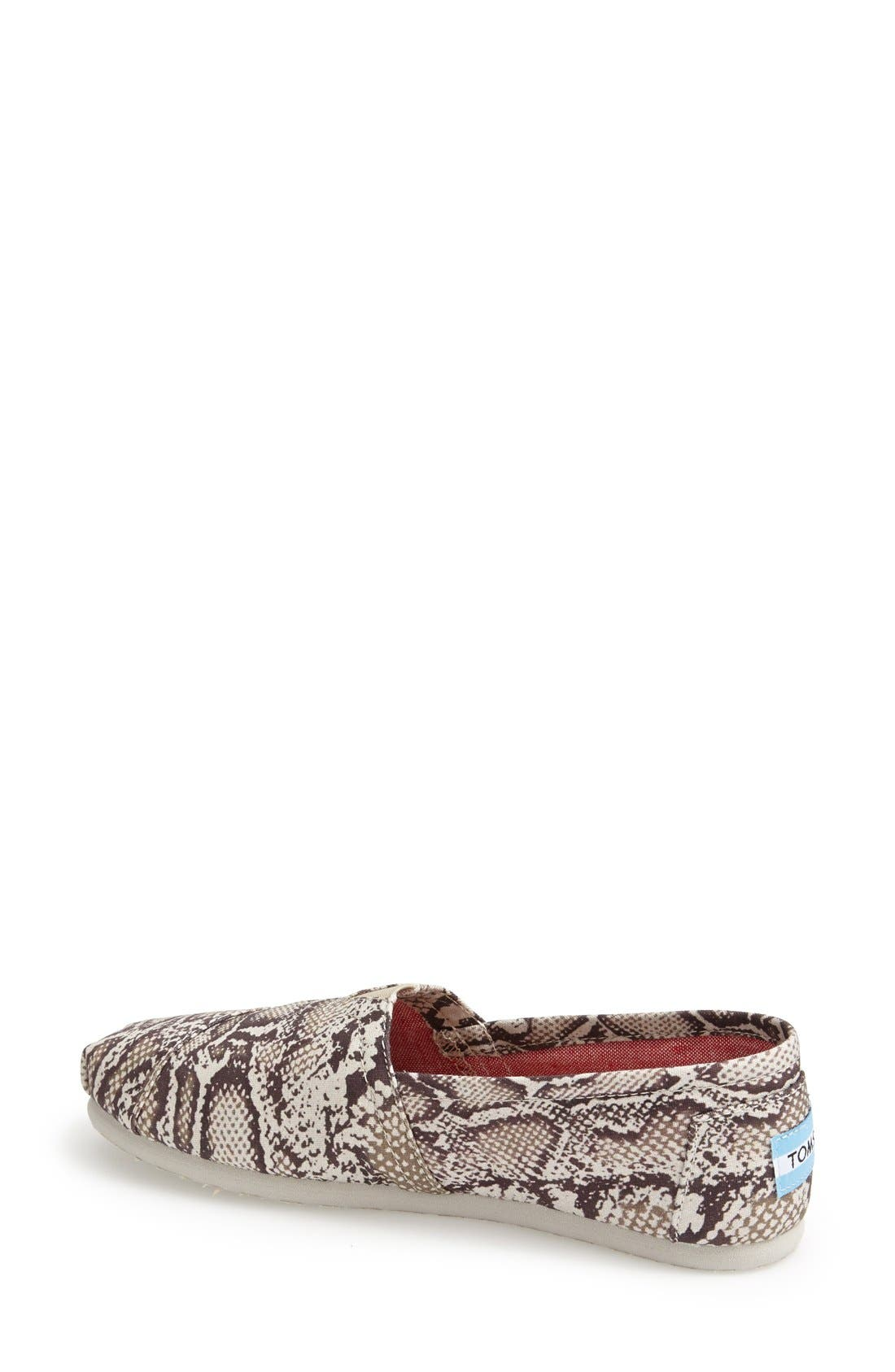 Alternate Image 2  - TOMS 'Classic - Snake' Slip-On (Women)
