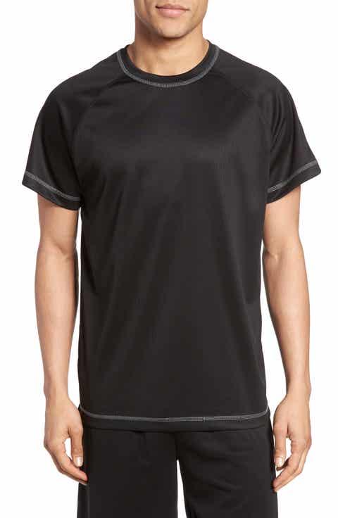 Majestic International Work Out Crewneck T-Shirt (Big   Tall)