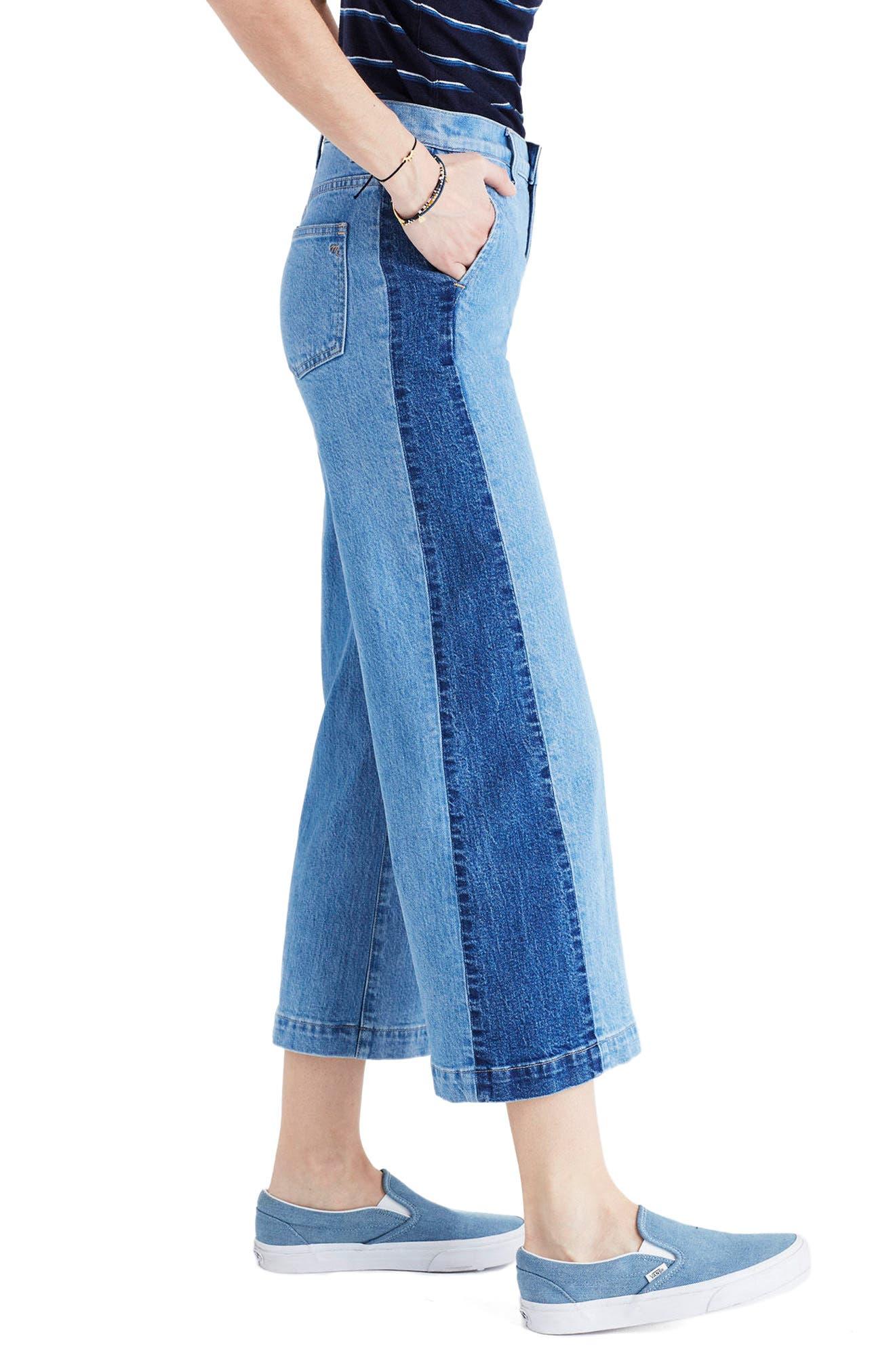 Alternate Image 4  - Madewell High Waist Crop Wide Leg Jeans (Ellendale Wash)