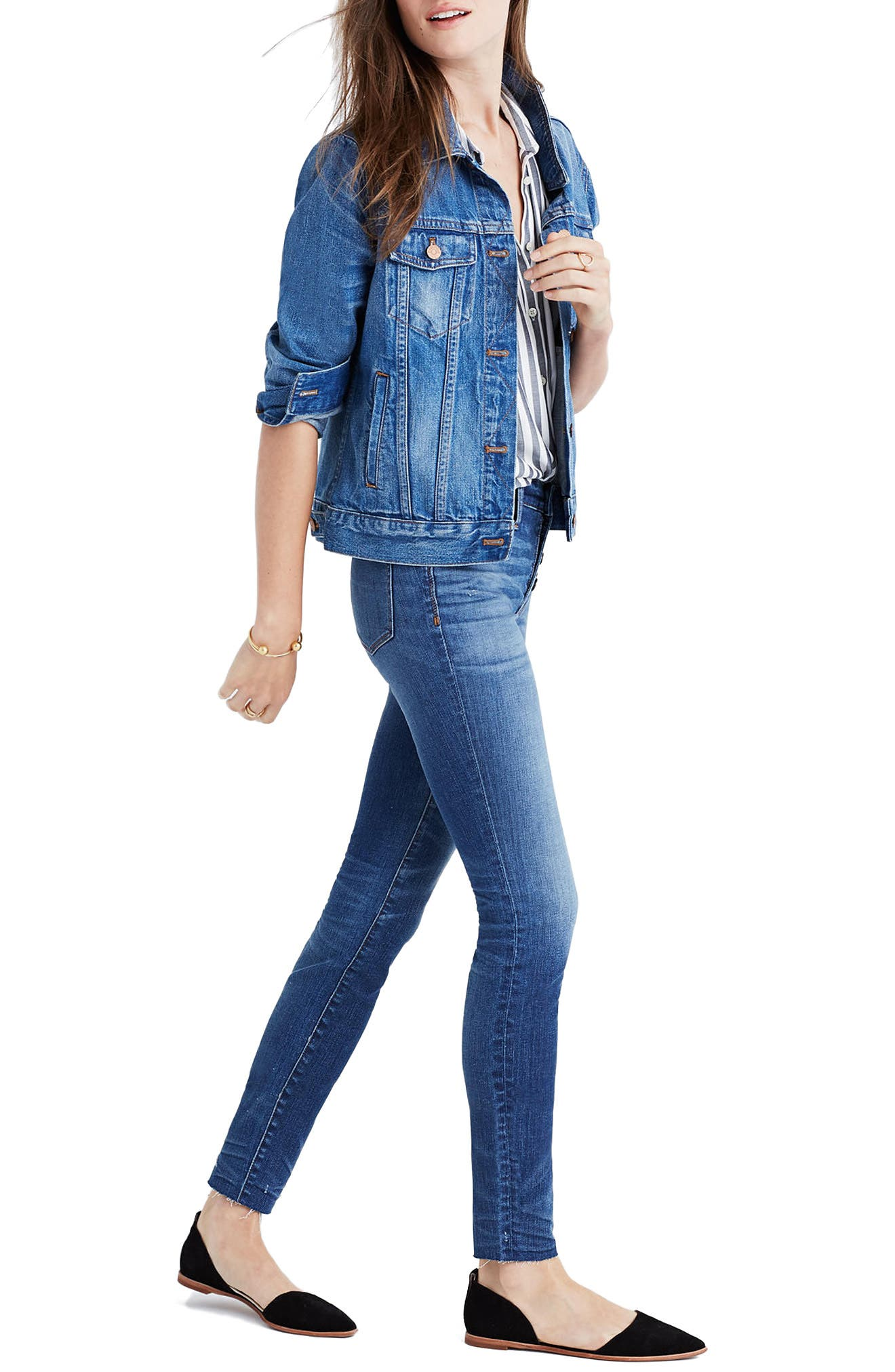 Alternate Image 3  - Madewell High Waist Skinny Jeans: Button-Through Edition (Rizzo Wash)