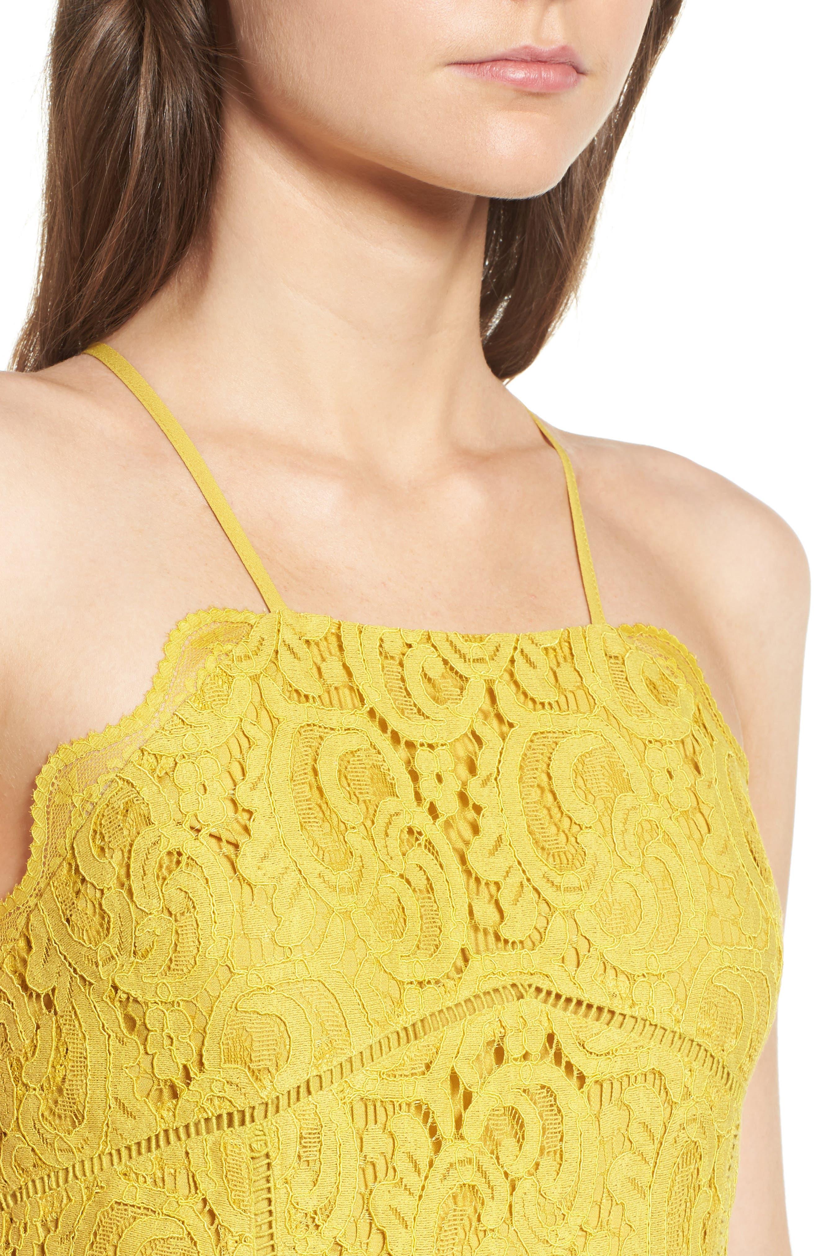 Alternate Image 4  - J.O.A. Lace Midi Dress